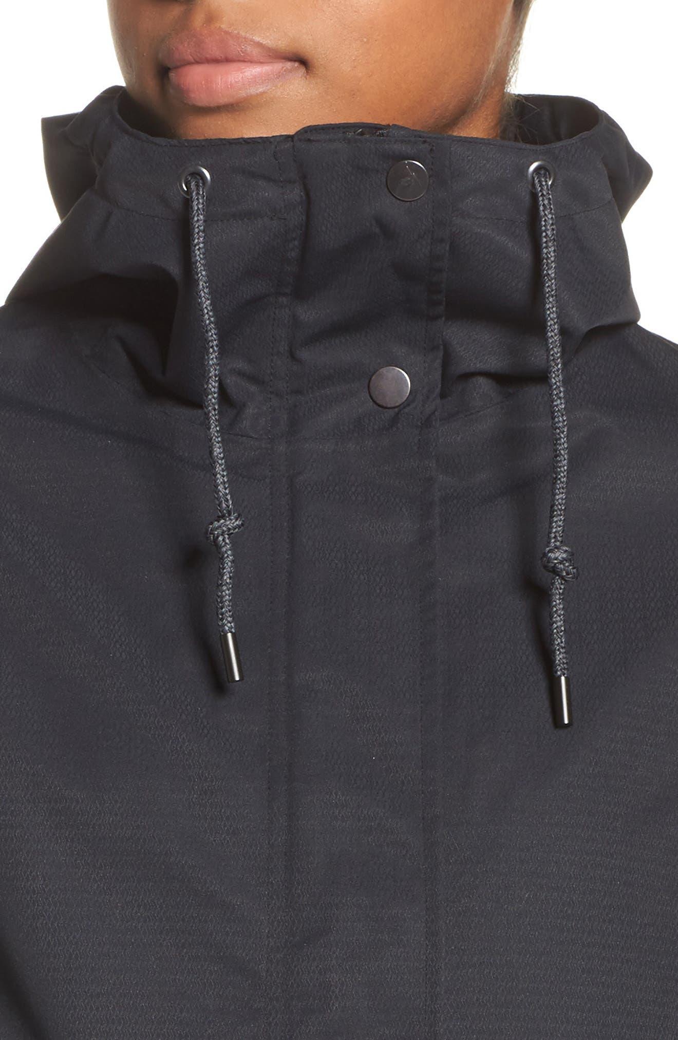 Sadie Waterproof Hooded Jacket,                             Alternate thumbnail 4, color,                             001