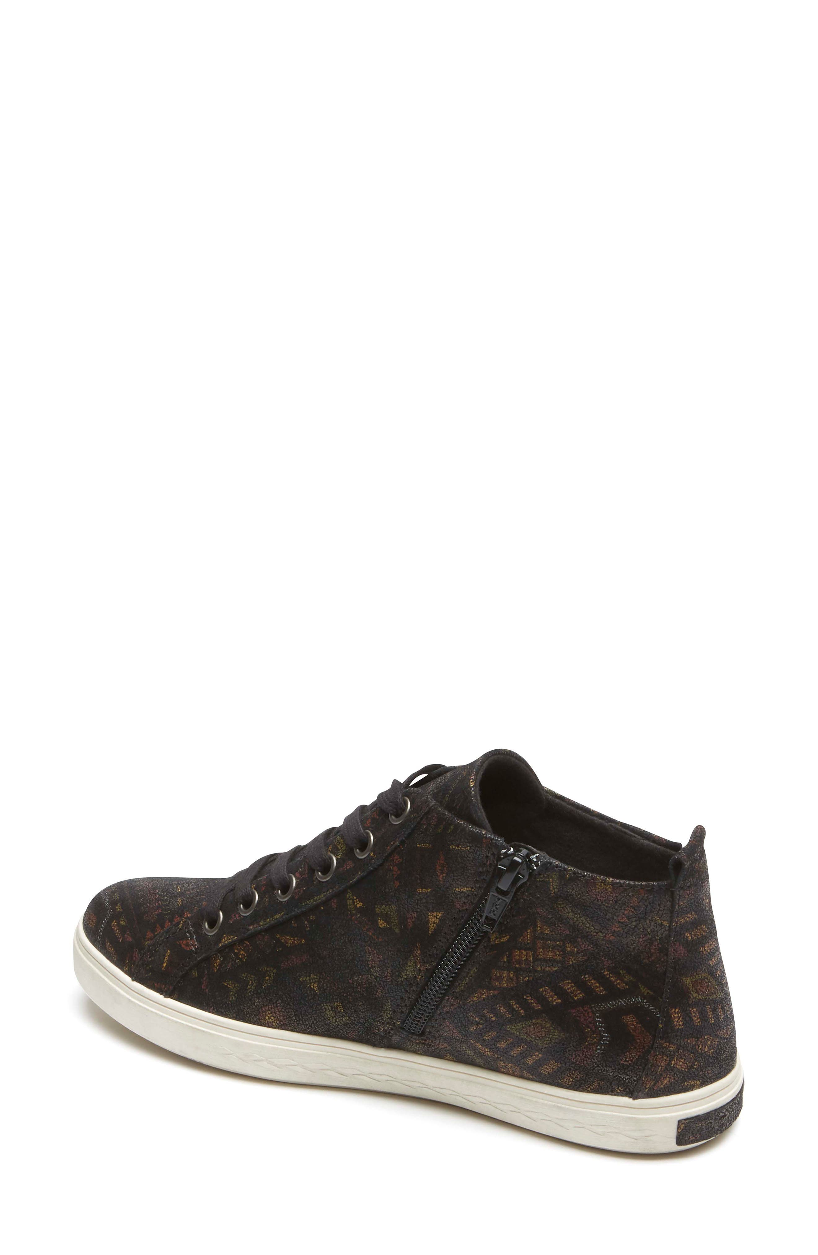 Willa High Top Sneaker,                             Alternate thumbnail 2, color,                             NOVELTY PRINT LEATHER