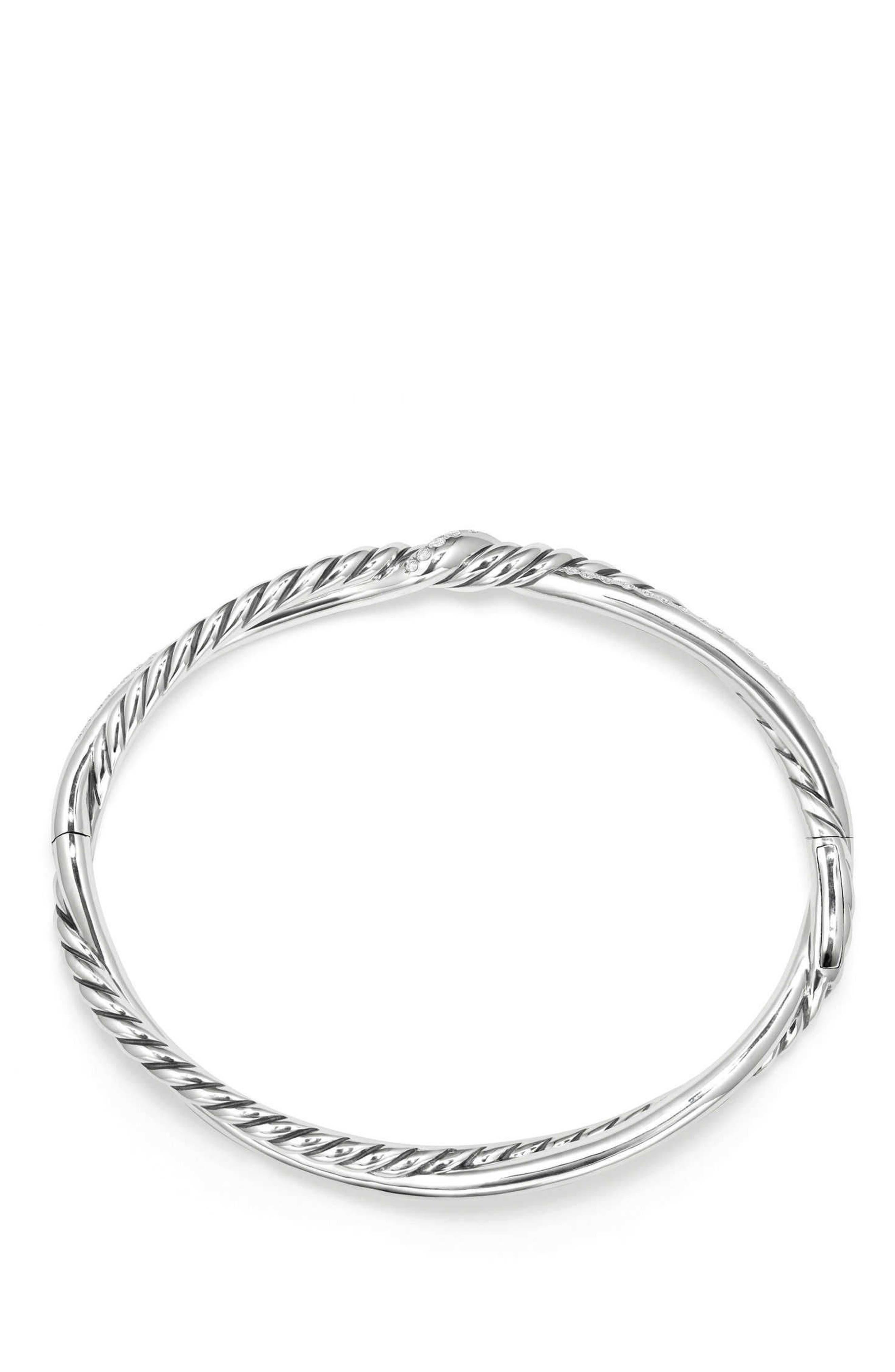 Continuance Full Pavé Bracelet with Diamonds,                             Main thumbnail 1, color,                             SILVER/ DIAMOND