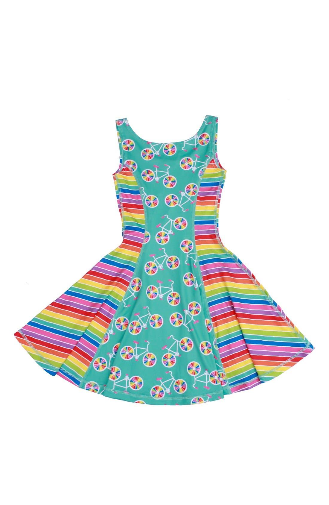 Flow Mixed Print Dress,                             Main thumbnail 4, color,