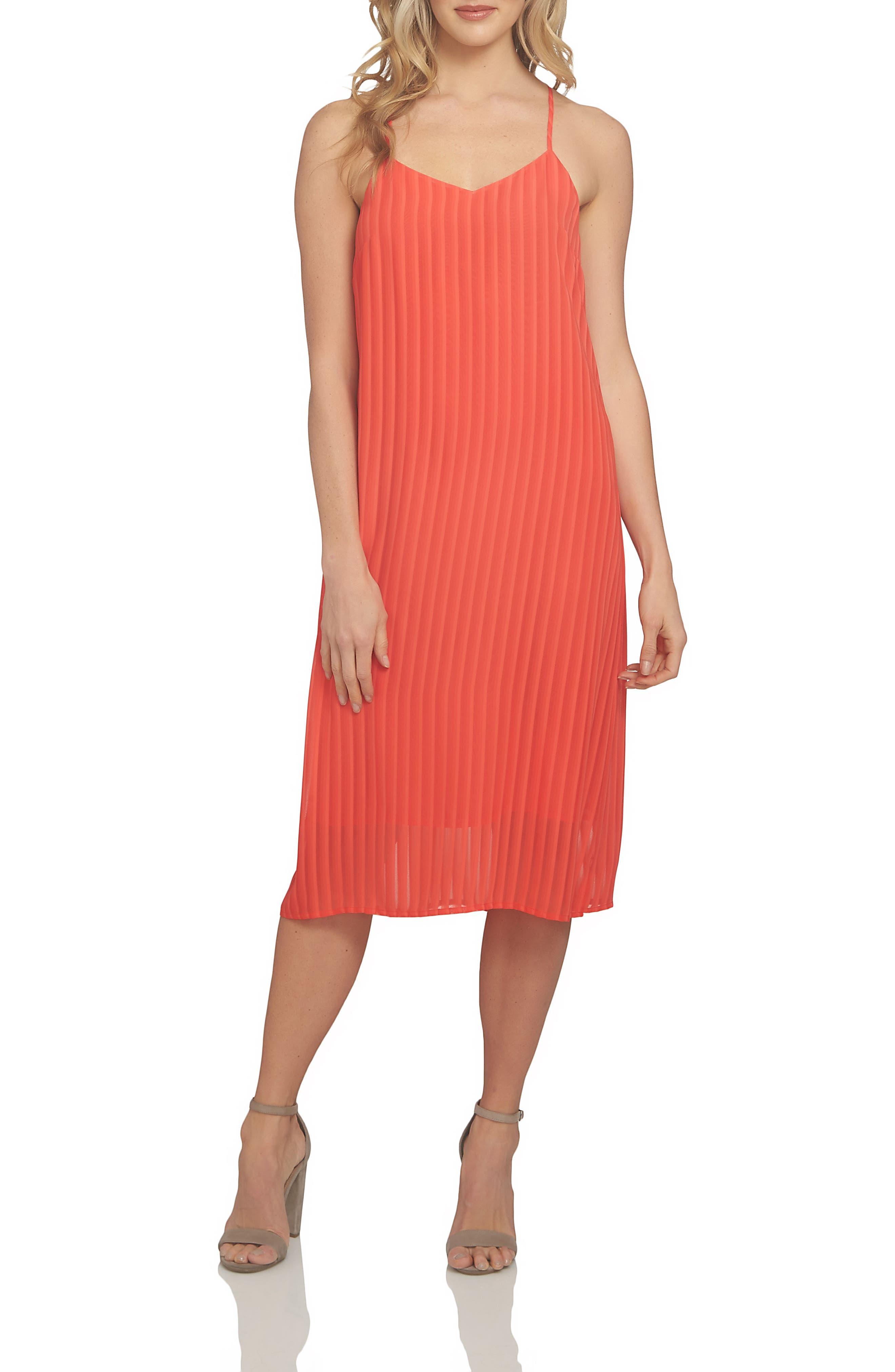 Lacey Chiffon Midi Dress,                             Alternate thumbnail 3, color,                             609