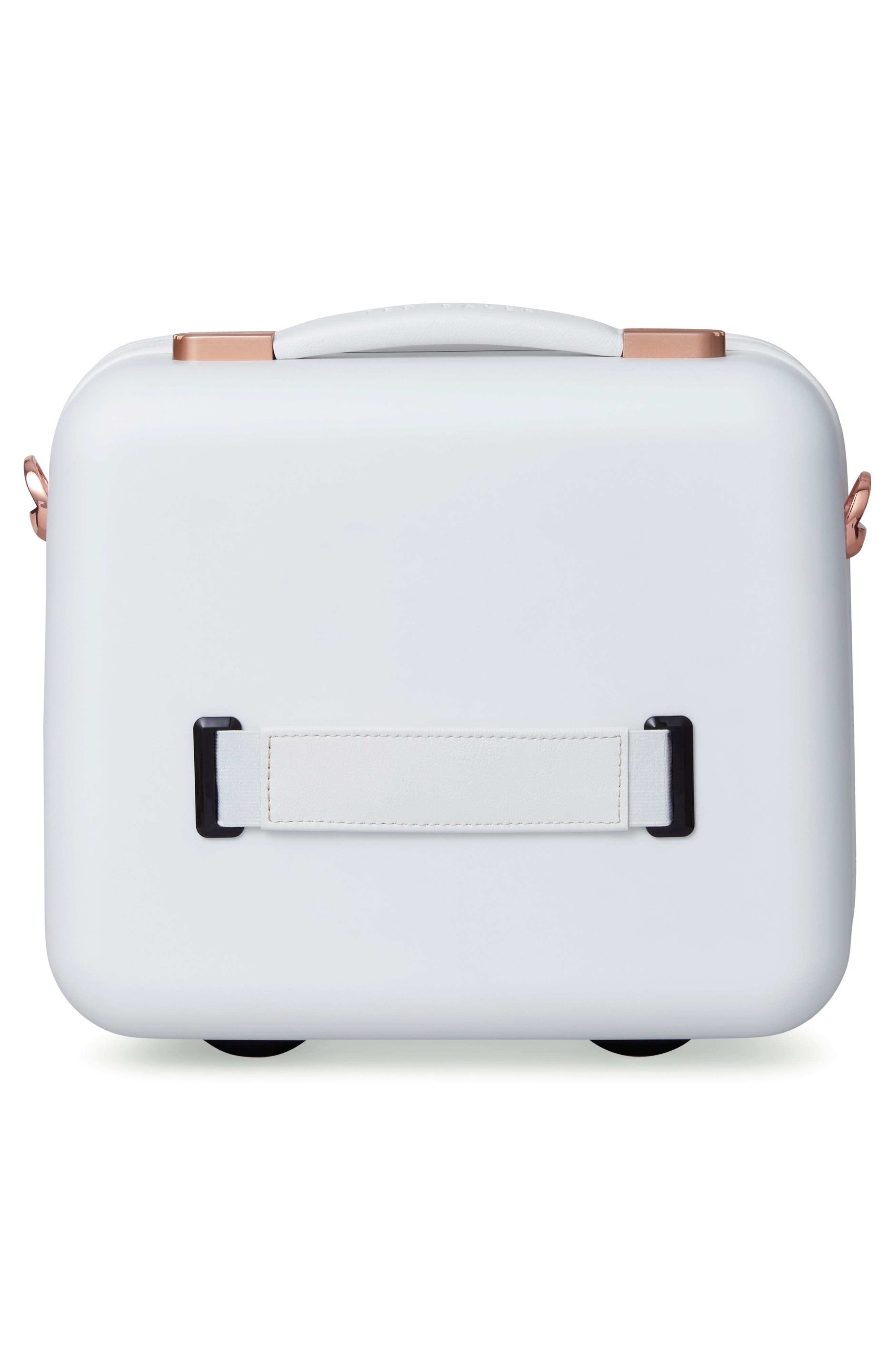 Beau Hardshell Vanity Case,                             Alternate thumbnail 4, color,                             WHITE