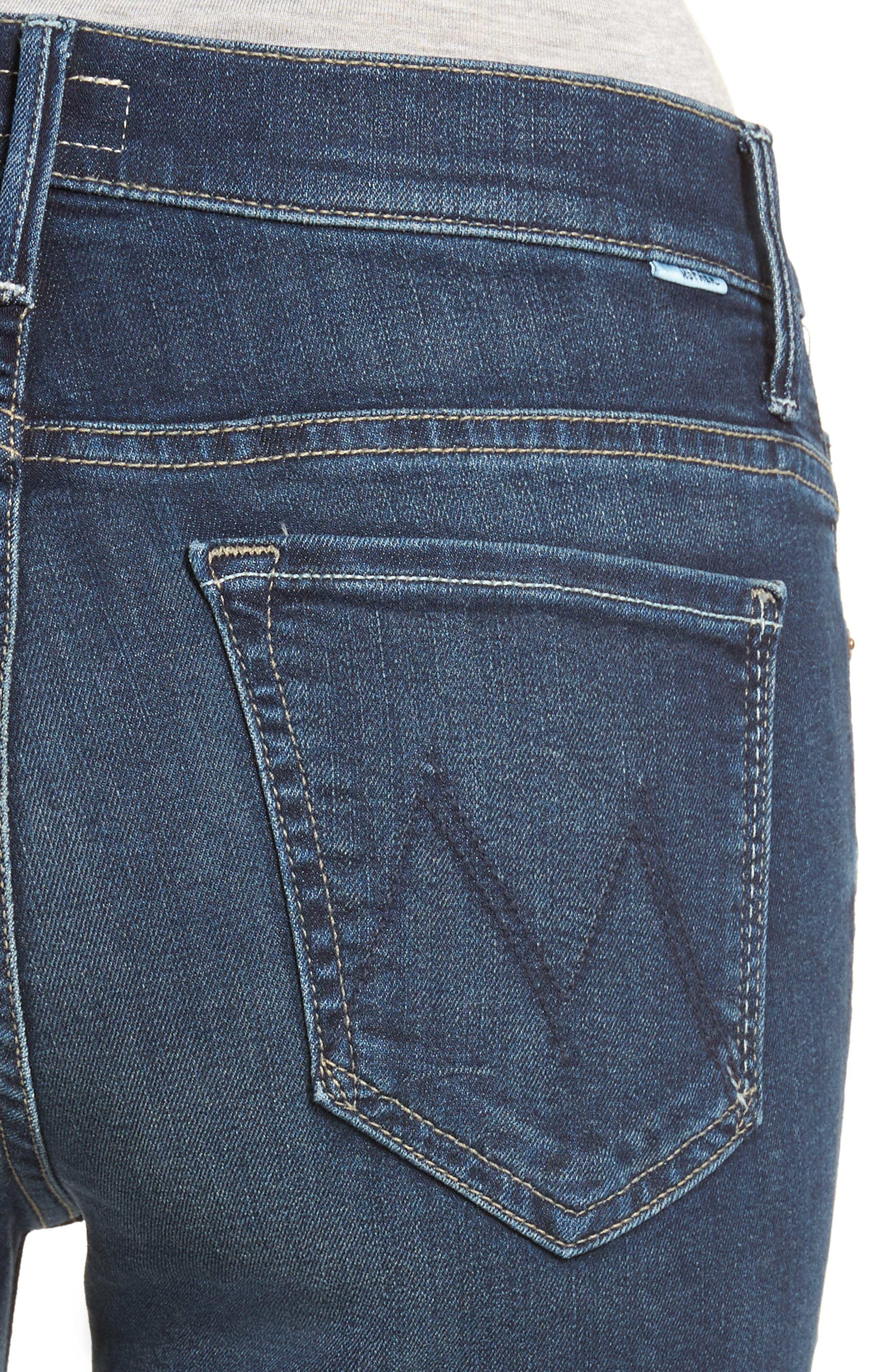 The Insider Step Hem Crop Bootcut Jeans,                             Alternate thumbnail 4, color,                             439