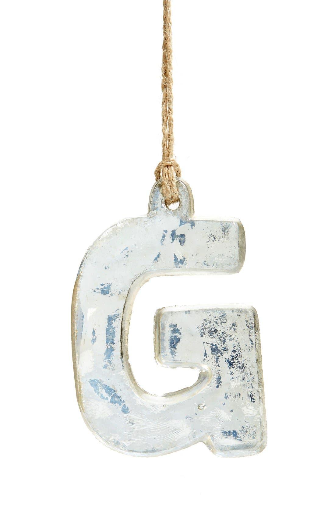 Handblown Glass Alphabet Ornament,                             Main thumbnail 22, color,