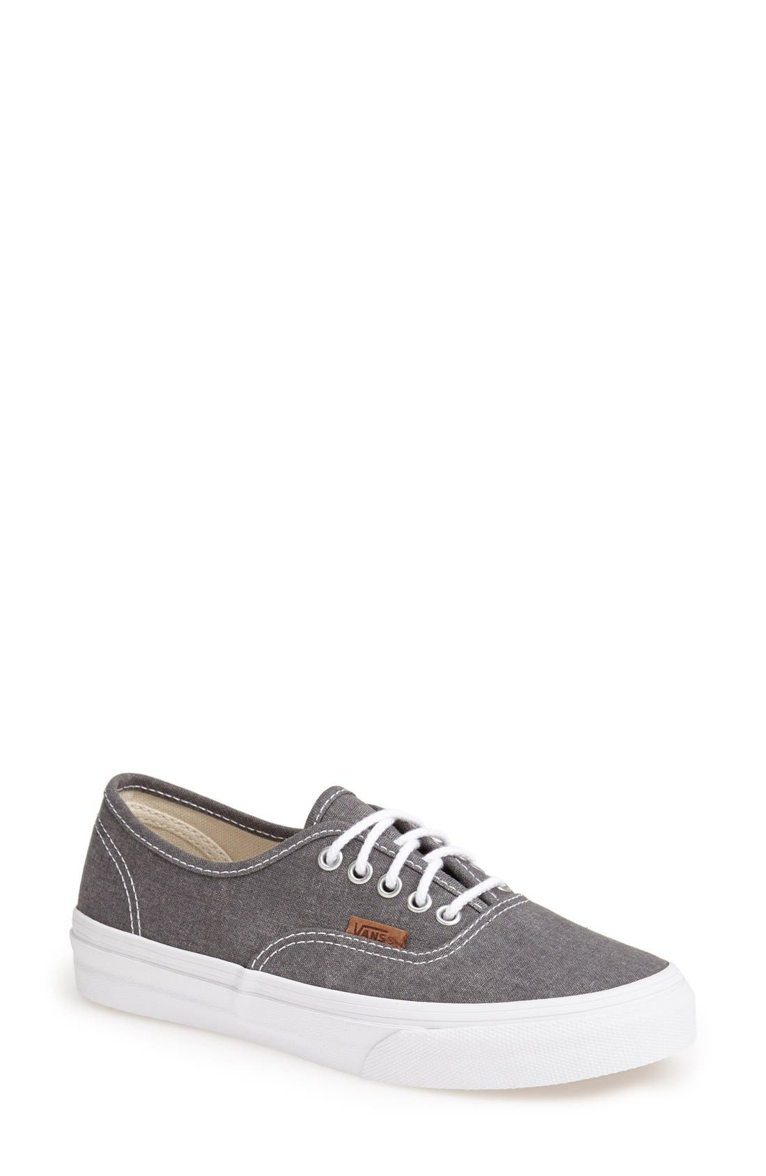 'Authentic - Slim' Washed Sneaker, Main, color, 020