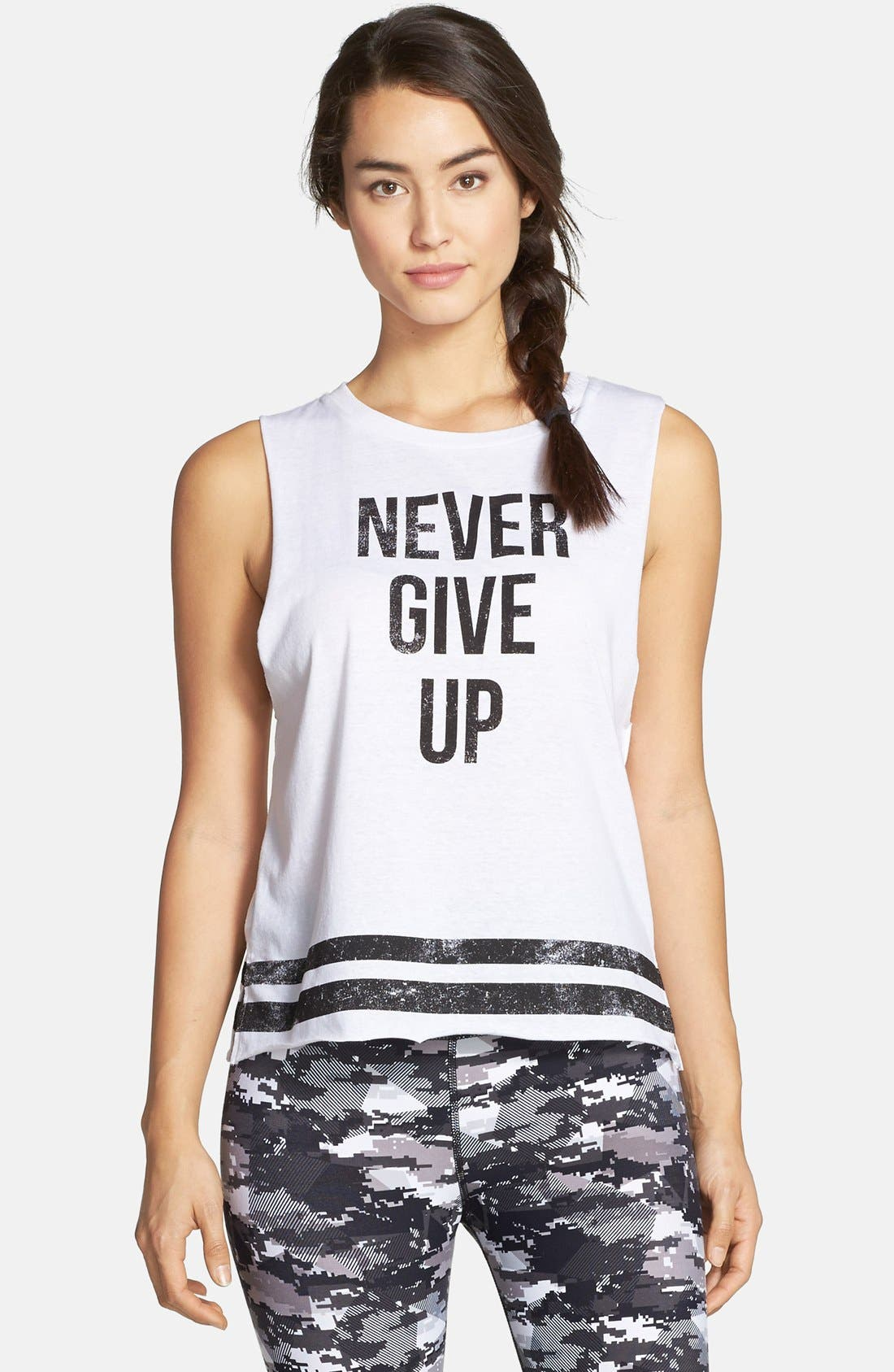 'Never Give Up' Tank,                         Main,                         color, 100