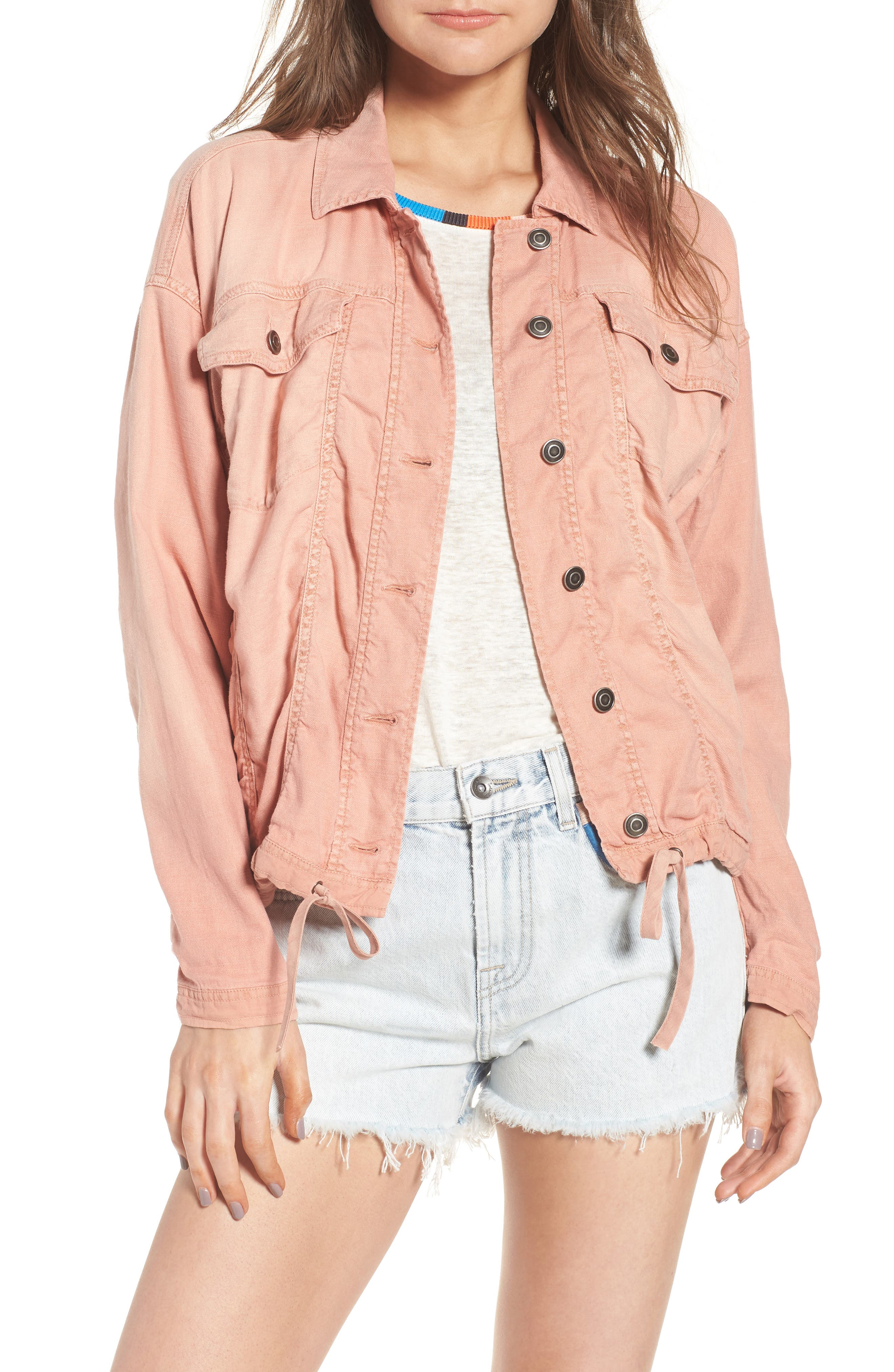 Linen Blend Drape Jacket,                             Main thumbnail 2, color,