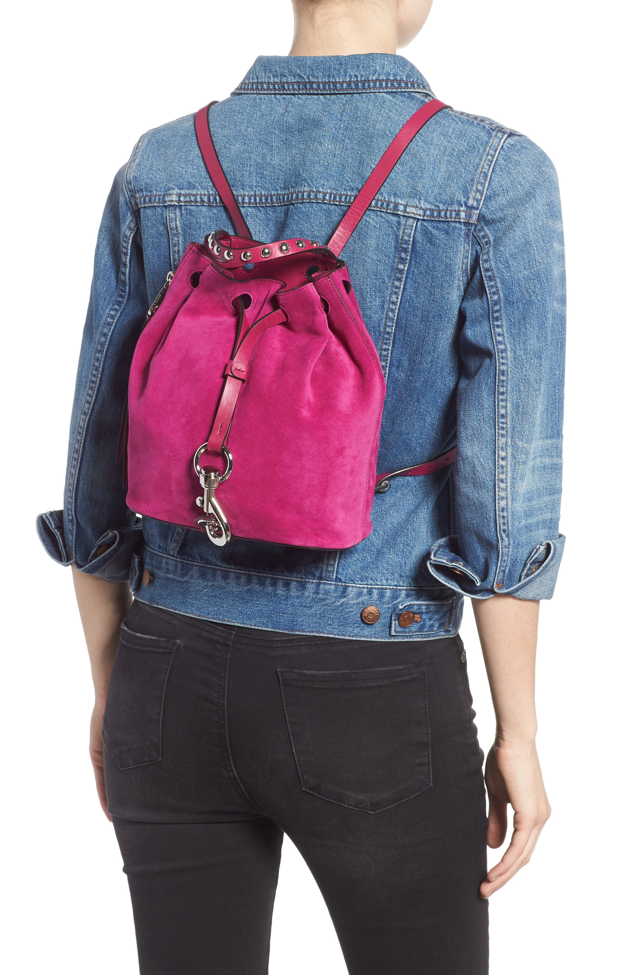 Small Blythe Leather Backpack,                             Alternate thumbnail 2, color,                             650