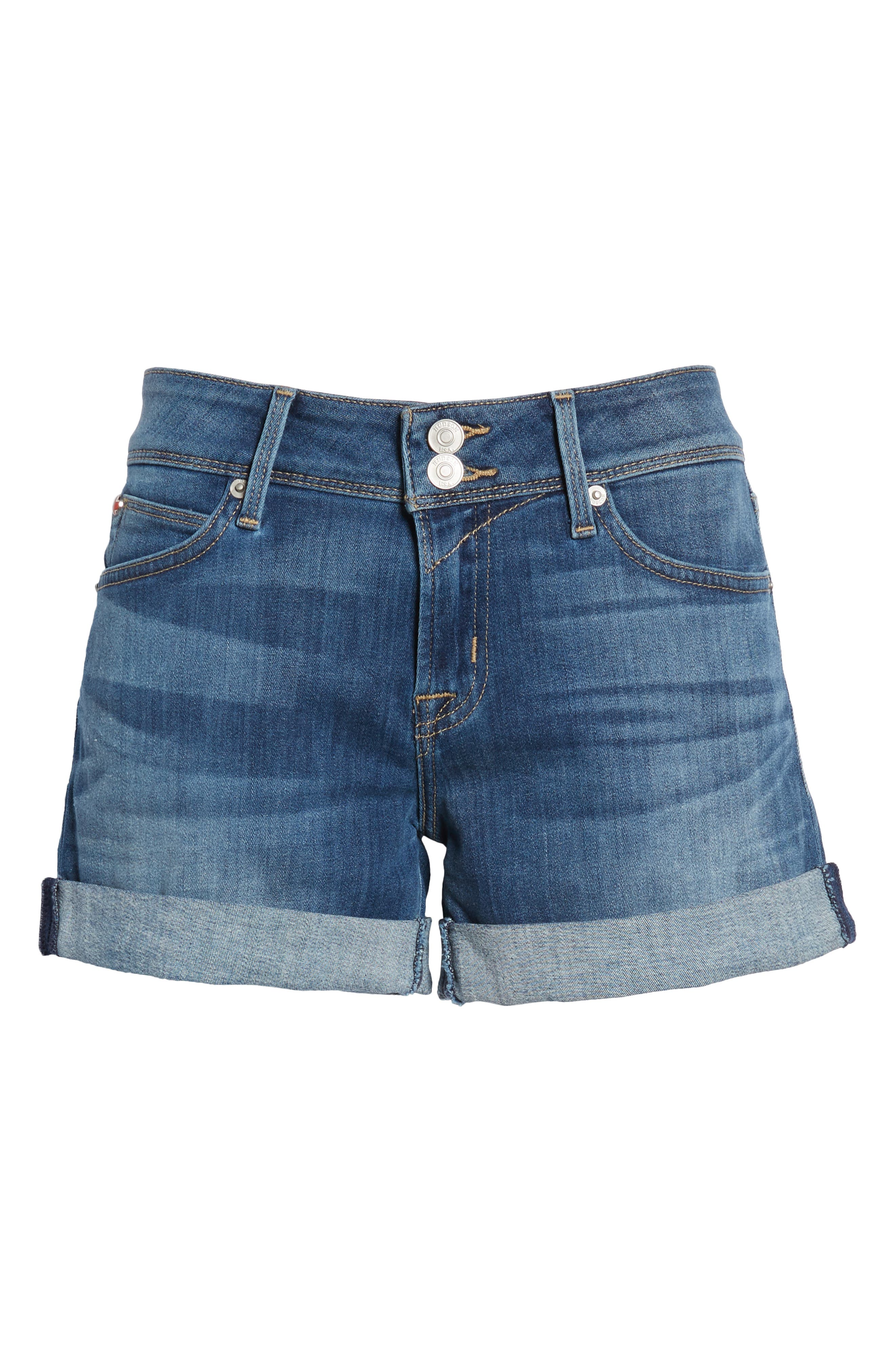 'Croxley' Cuffed Denim Shorts,                             Alternate thumbnail 25, color,