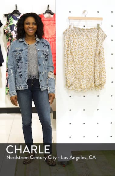 Floral Back Tie Off the Shoulder Blouse, sales video thumbnail