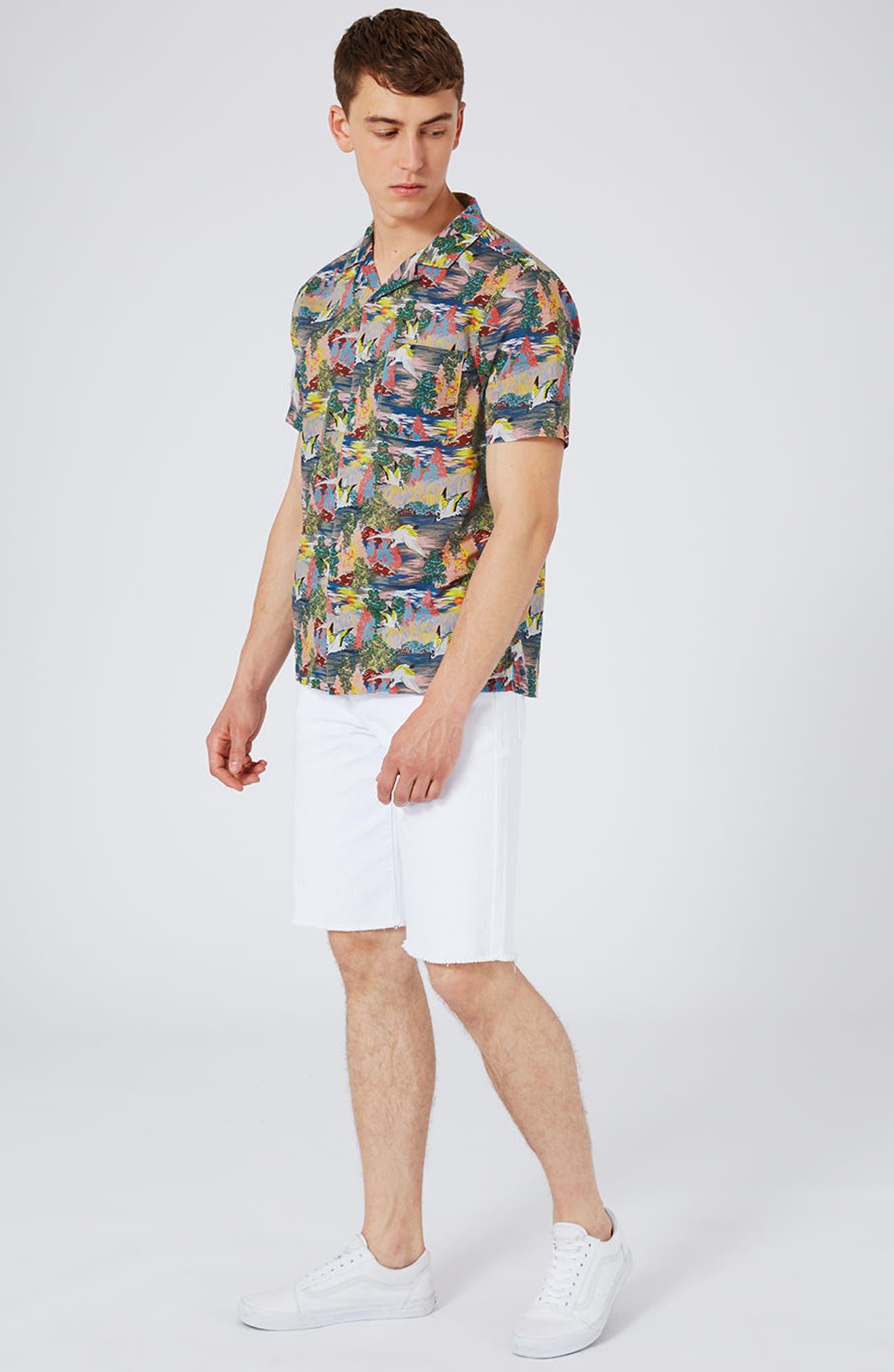 Heron Print Shirt,                             Alternate thumbnail 5, color,                             400