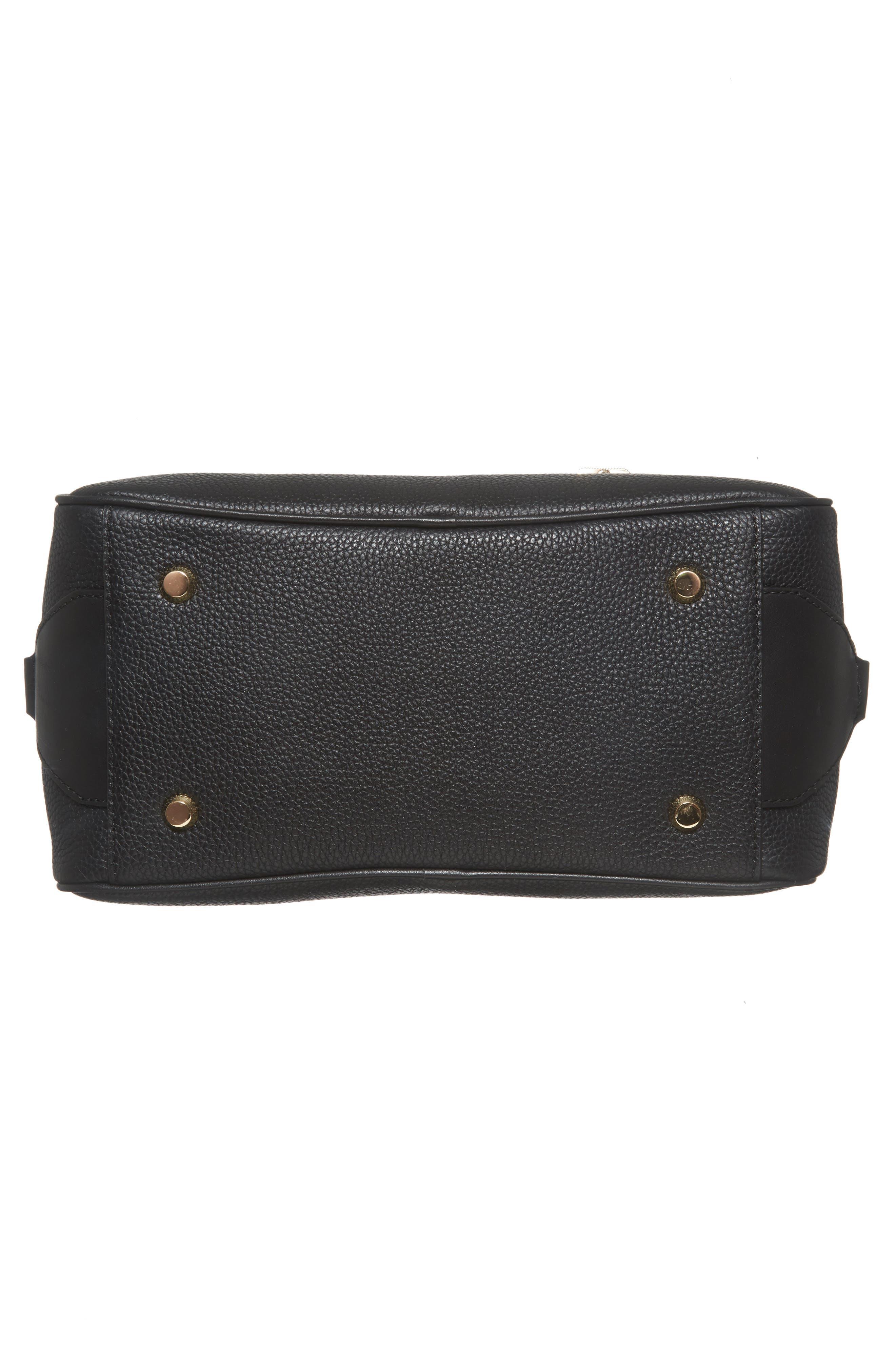 Large Briar Leather Satchel,                             Alternate thumbnail 6, color,                             001