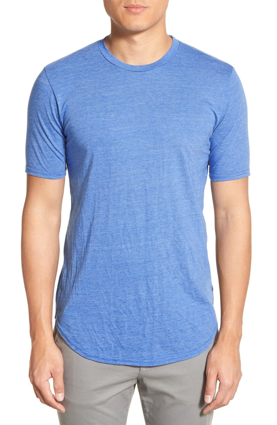 Scallop Triblend Crewneck T-Shirt,                             Main thumbnail 19, color,