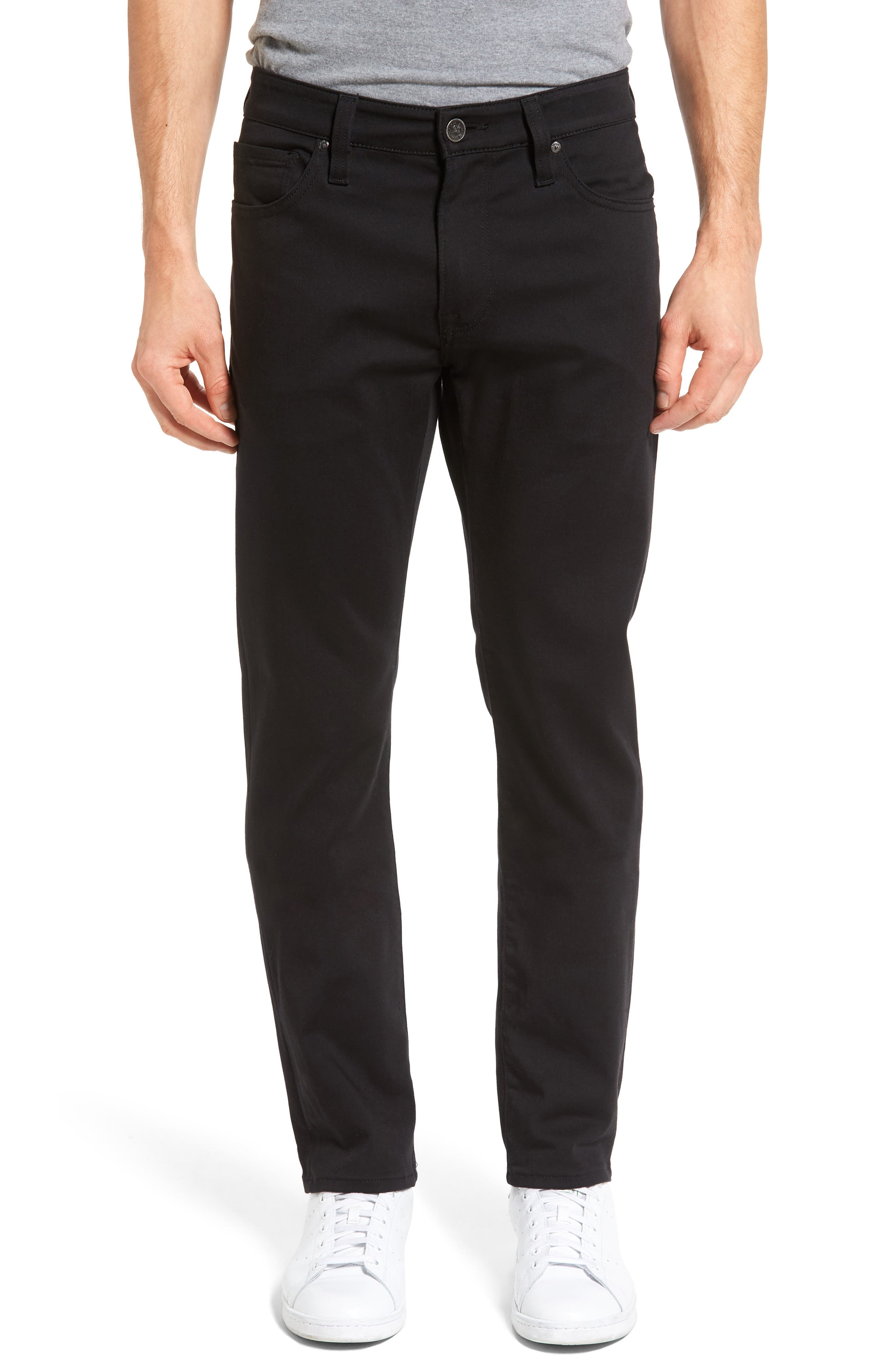 Courage Straight Leg Jeans,                             Main thumbnail 1, color,                             SELECT DOUBLE BLACK