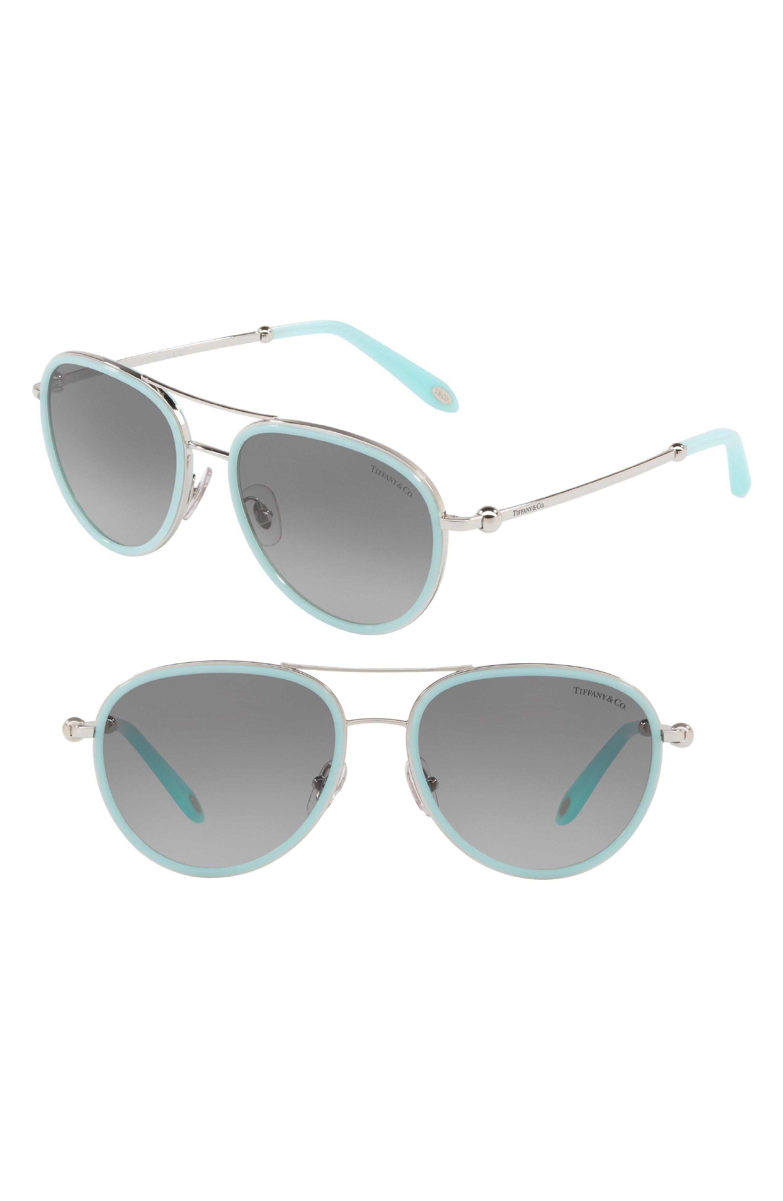 55mm Gradient Aviator Sunglasses,                             Main thumbnail 1, color,                             BLUE GRADIENT