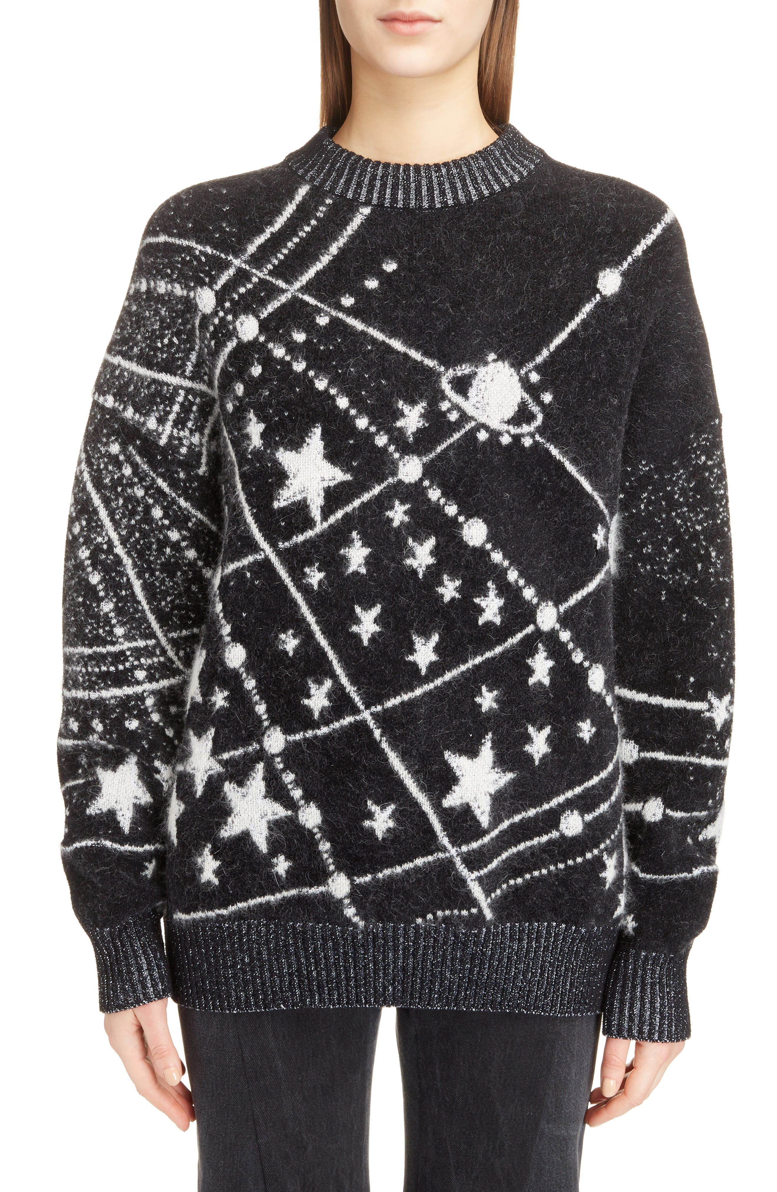 Constellation Oversize Mohair Sweater, Main, color, 011