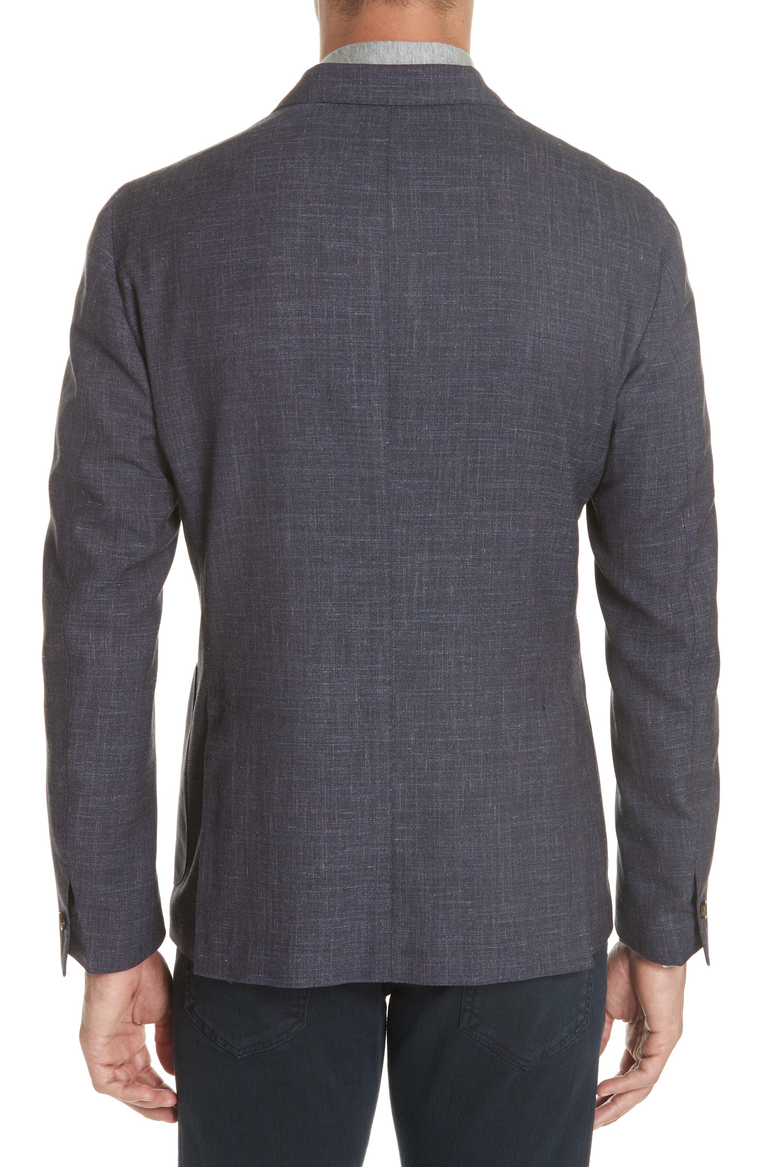 Trim Fit Wool Blend Blazer,                             Alternate thumbnail 2, color,