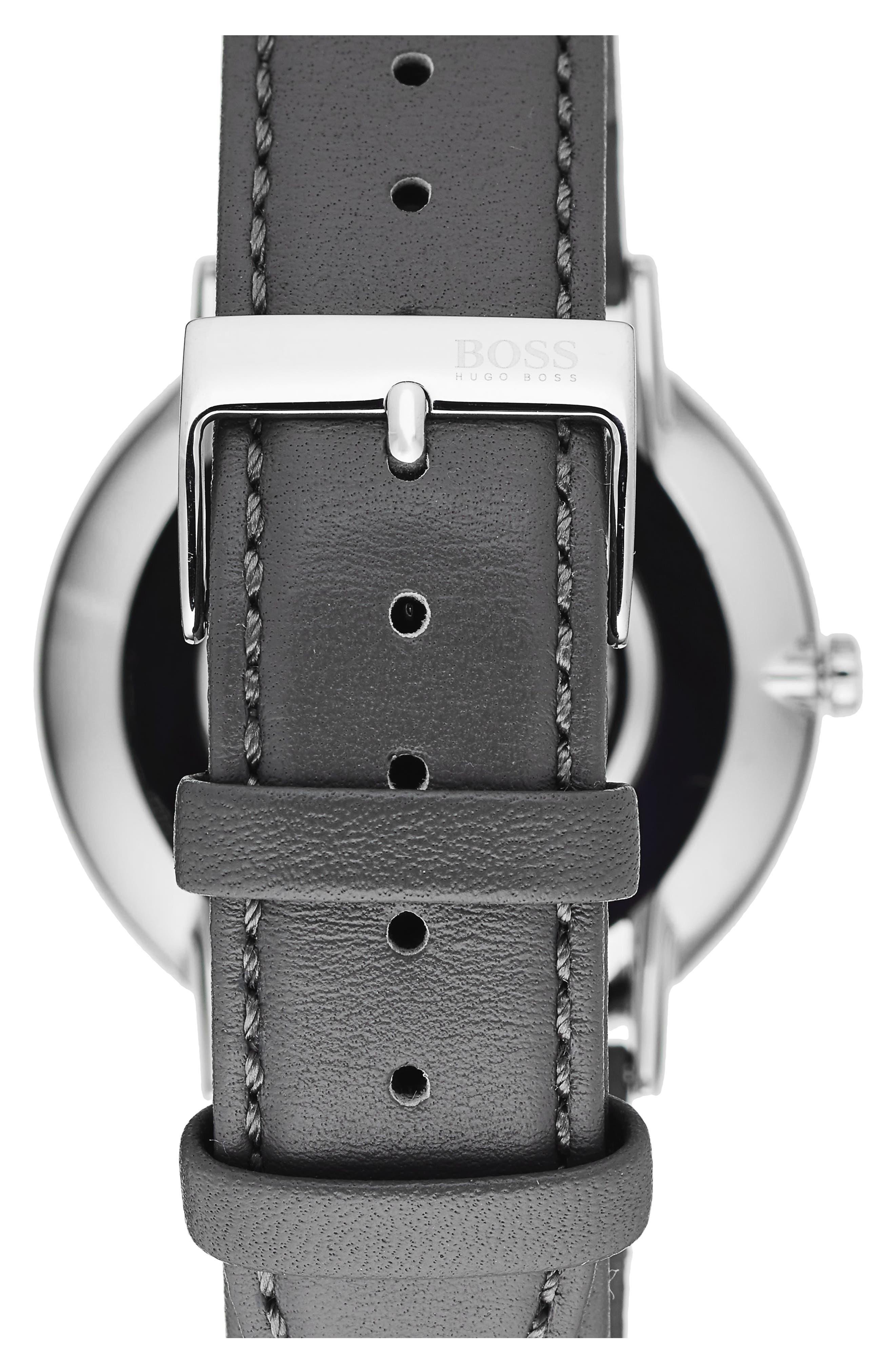 Horizon Leather Strap Watch, 40mm,                             Alternate thumbnail 2, color,                             020