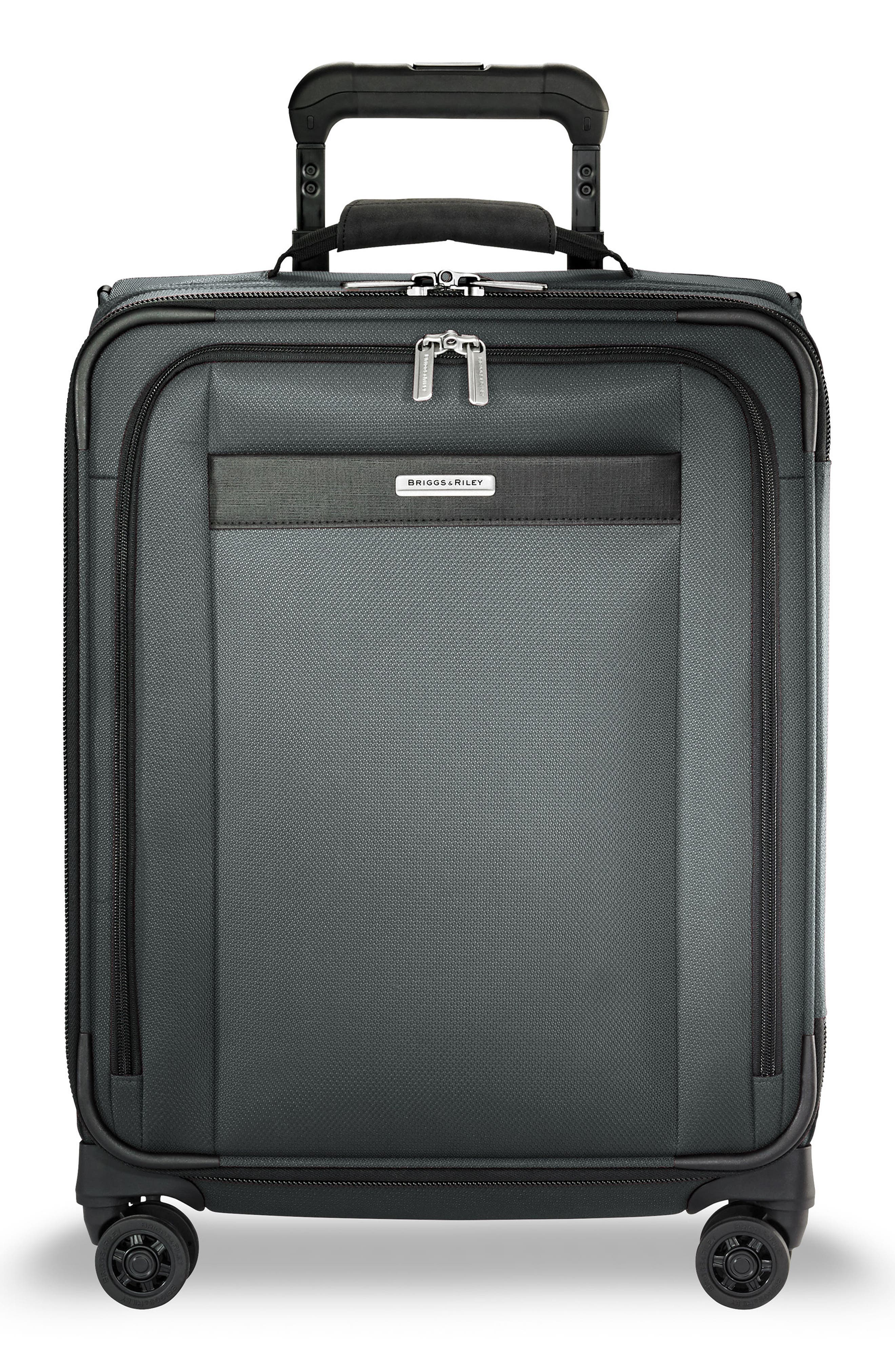 Transcend VX Wide Expandable 21-Inch Spinner Suitcase,                         Main,                         color, SLATE GREY