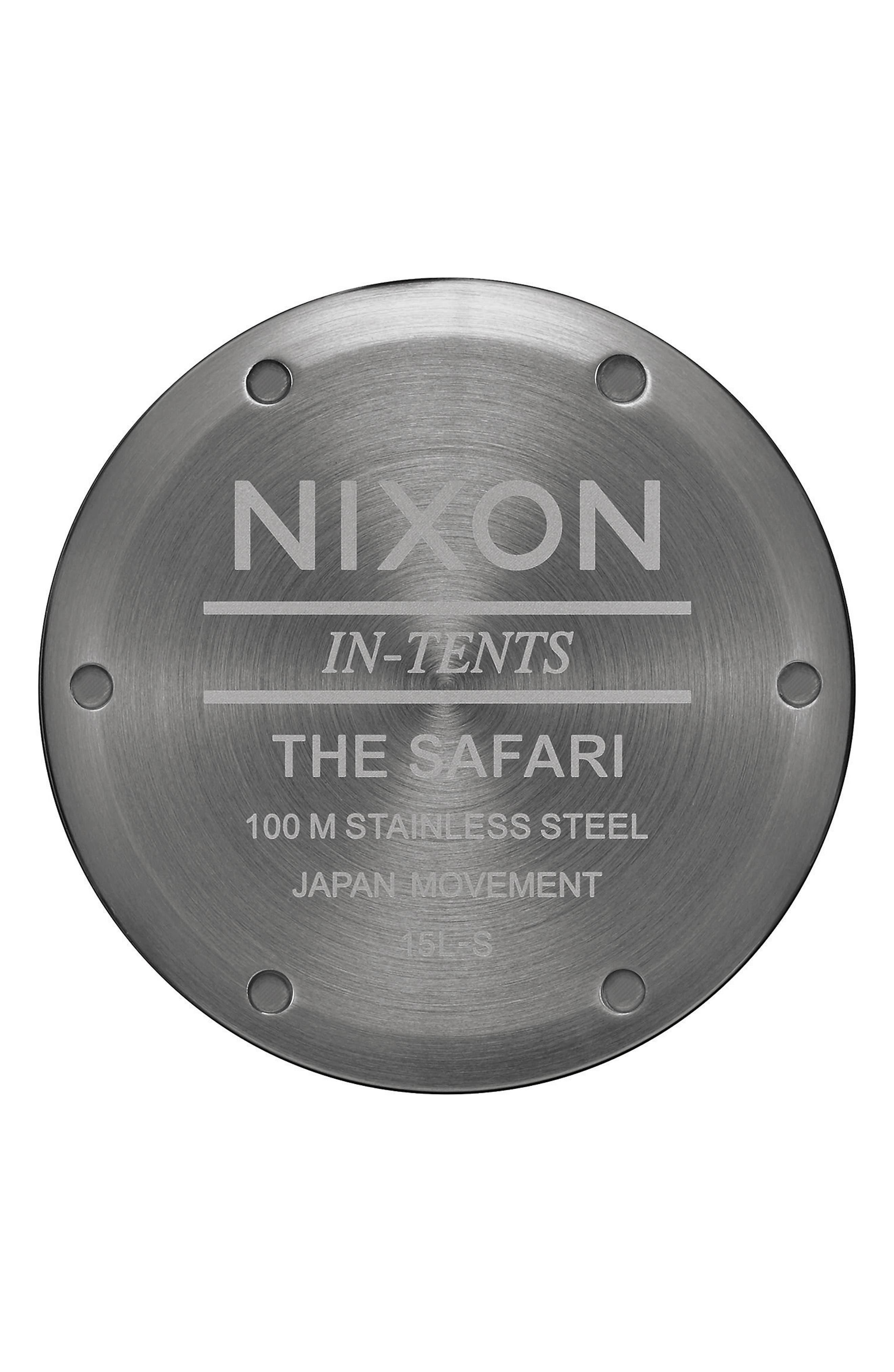 'Safari' Leather Strap Watch, 43mm,                             Alternate thumbnail 12, color,