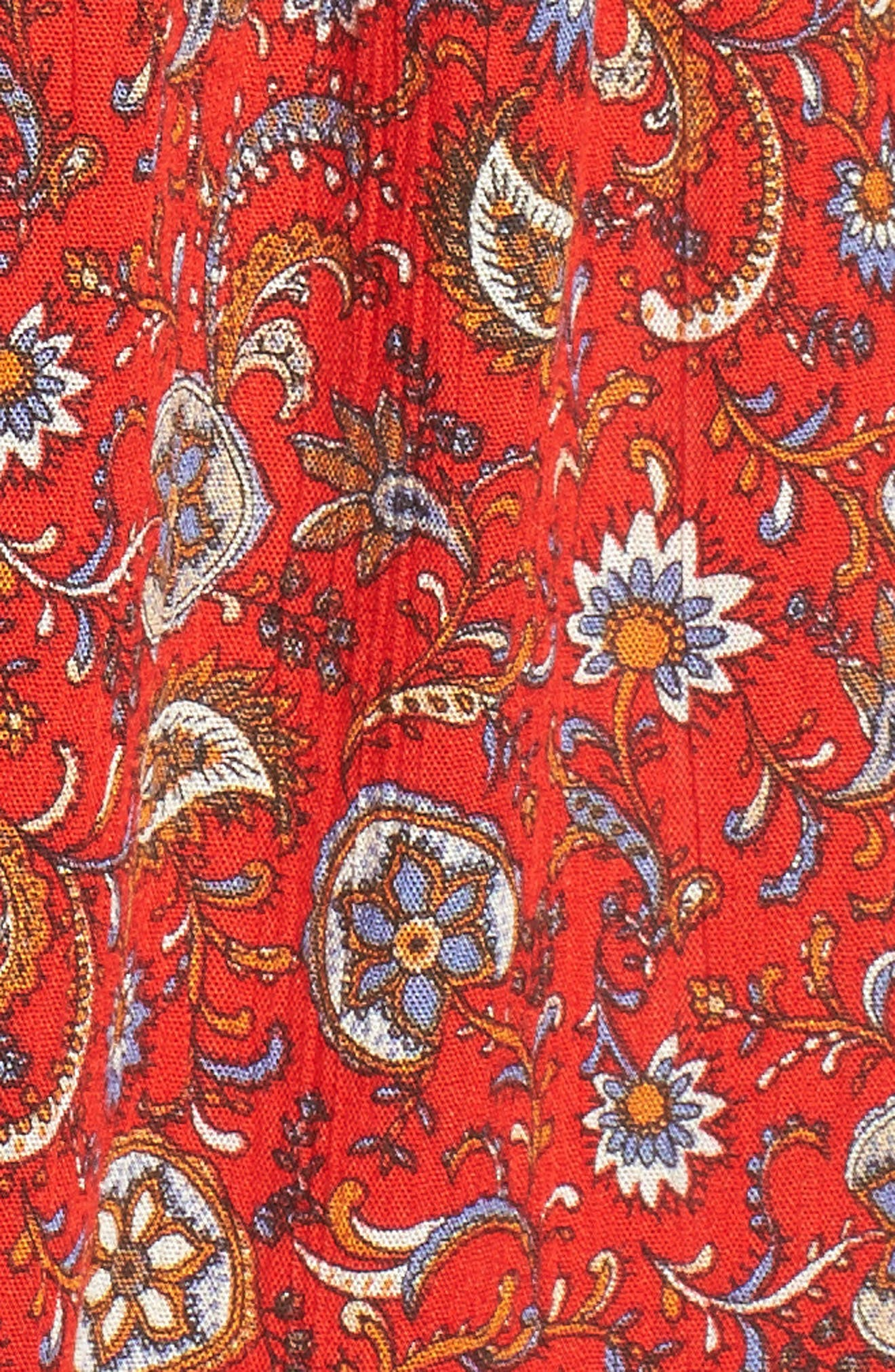Floral Print High/Low Peasant Blouse,                             Alternate thumbnail 15, color,