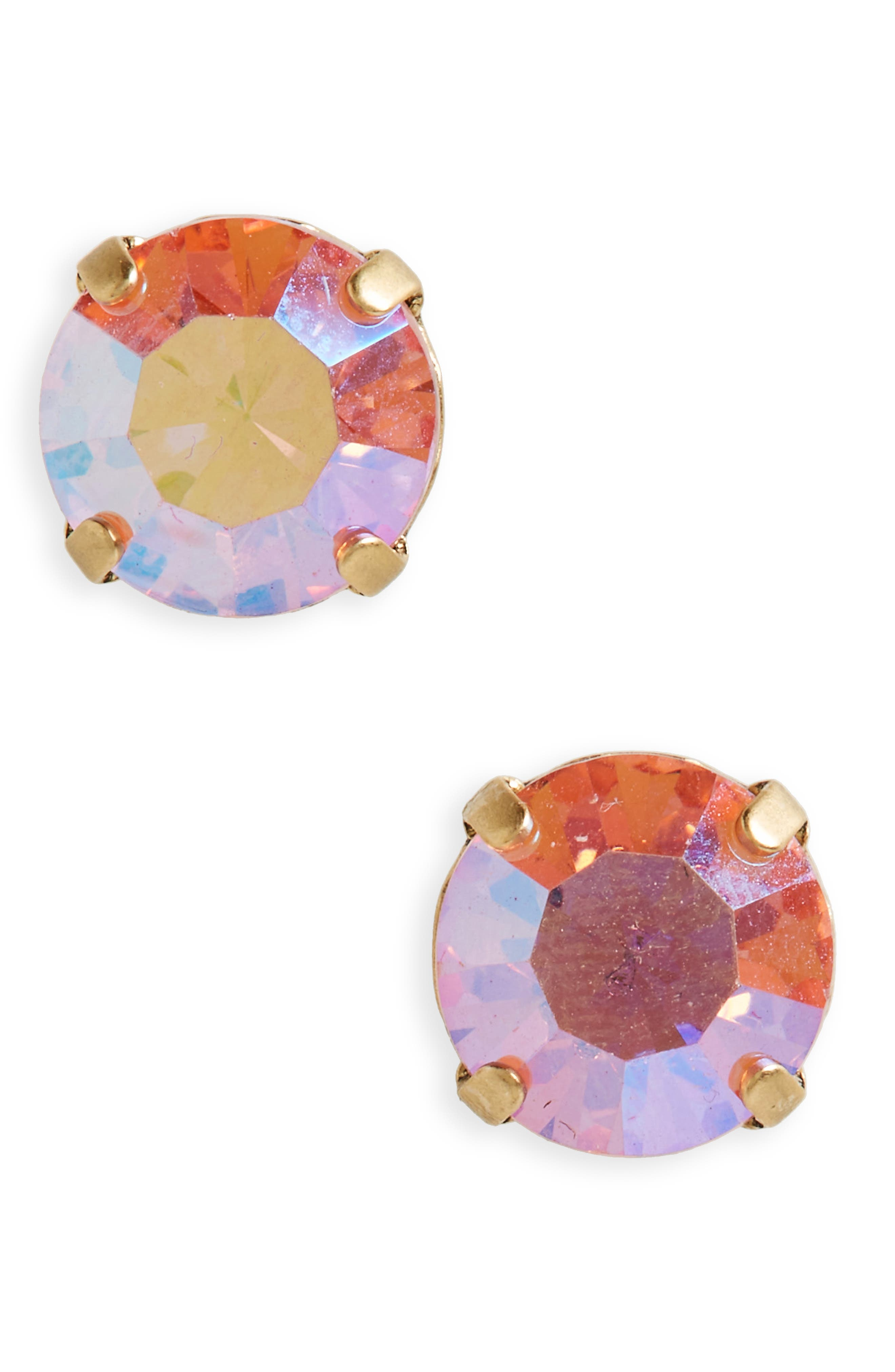 'shine on' crystal stud earrings,                             Main thumbnail 2, color,