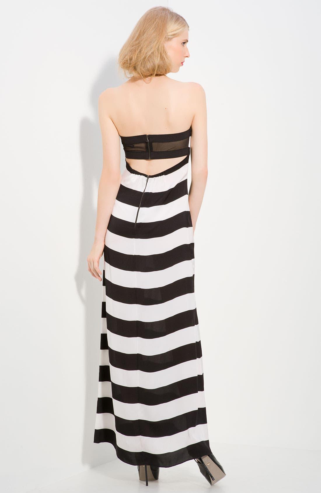'Chandra' Stripe Strapless Maxi Dress,                             Alternate thumbnail 2, color,                             006