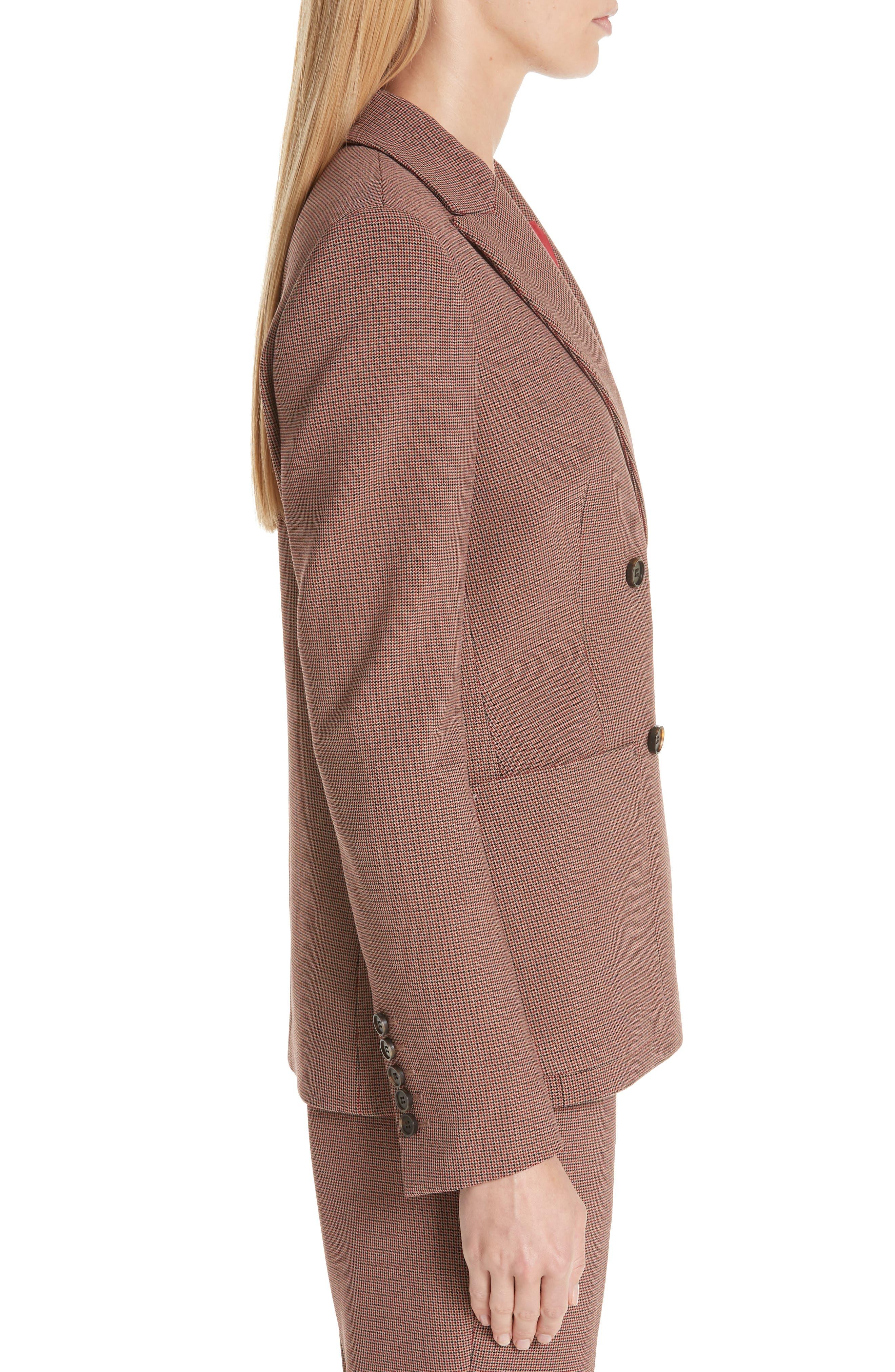 Joliviena Check Suit Jacket,                             Alternate thumbnail 3, color,                             DARK RED CHECK