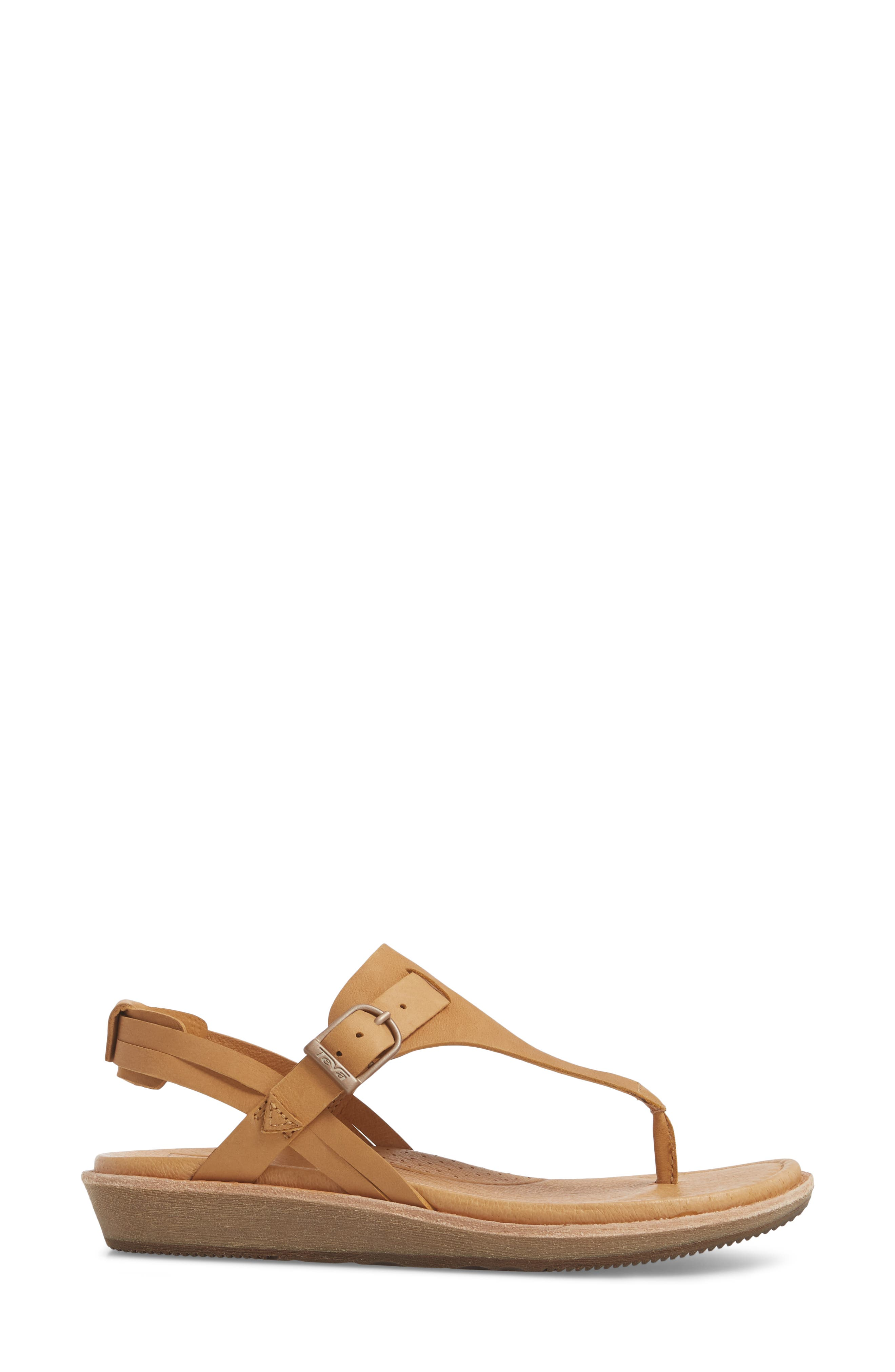 Encanta V-Strap Sandal,                             Alternate thumbnail 3, color,                             TAN