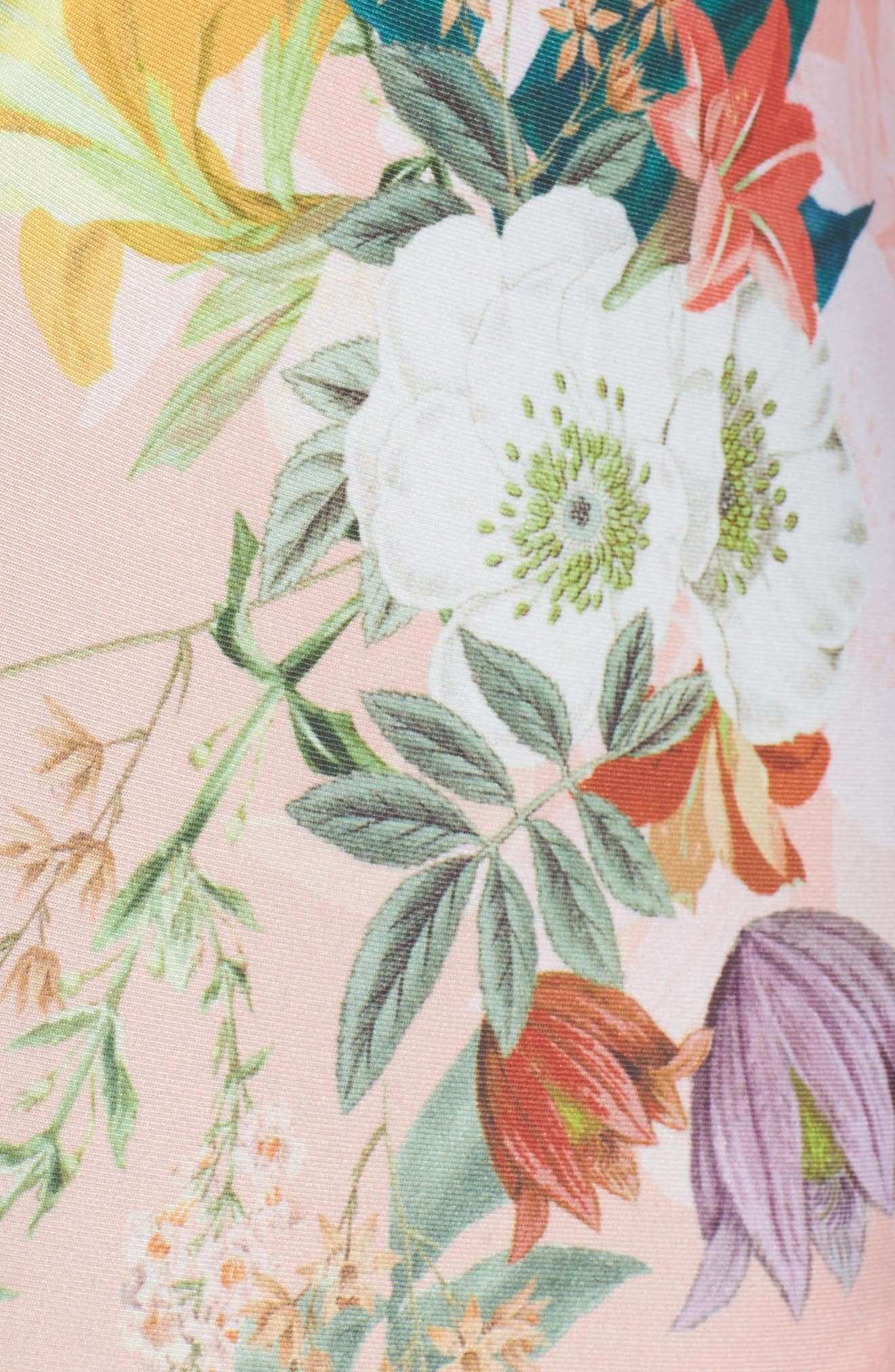Blossoms Plunge One-Piece Swimsuit,                             Alternate thumbnail 5, color,                             950