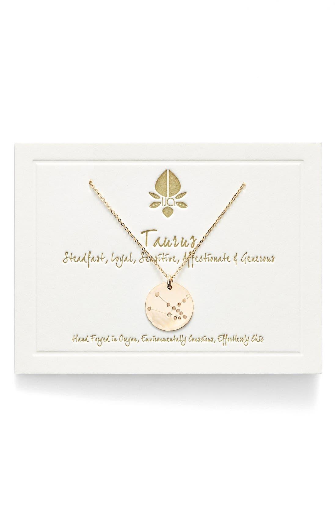 Ija 'Small Zodiac' 14k-Gold Fill Necklace,                             Main thumbnail 2, color,