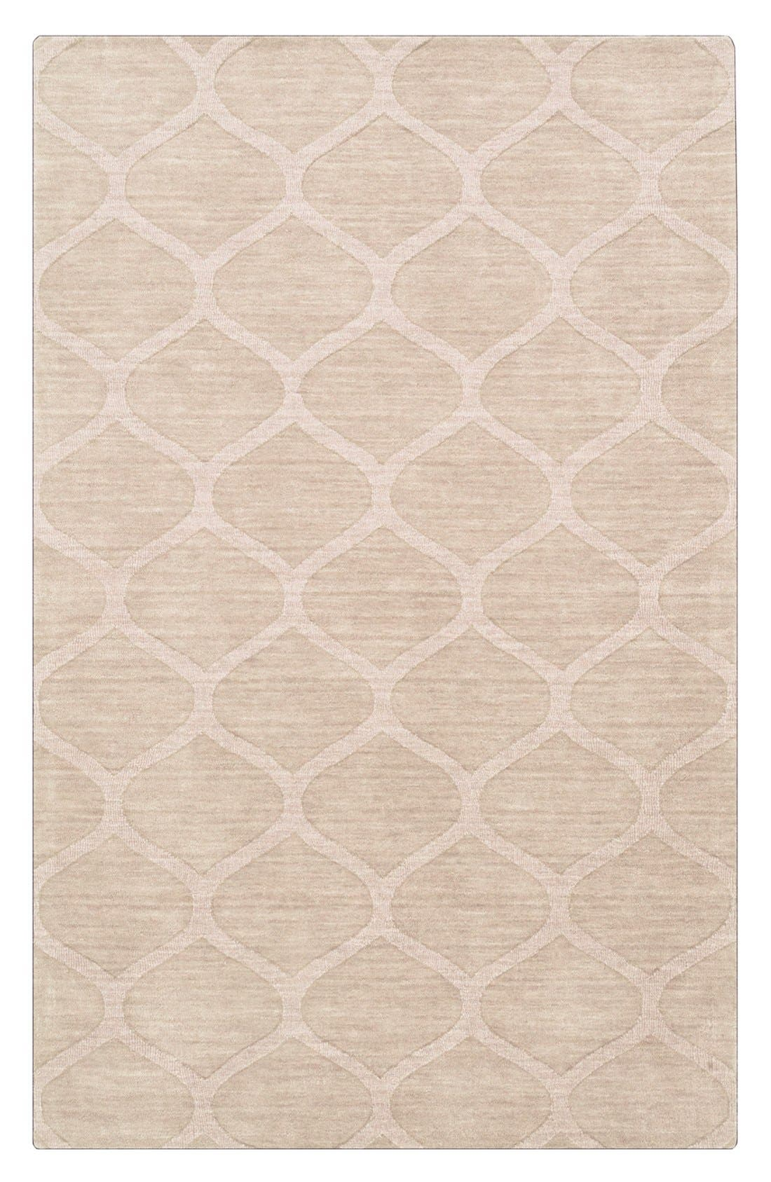 'Mystique' Hand Loomed Wool Rug,                         Main,                         color, IVORY