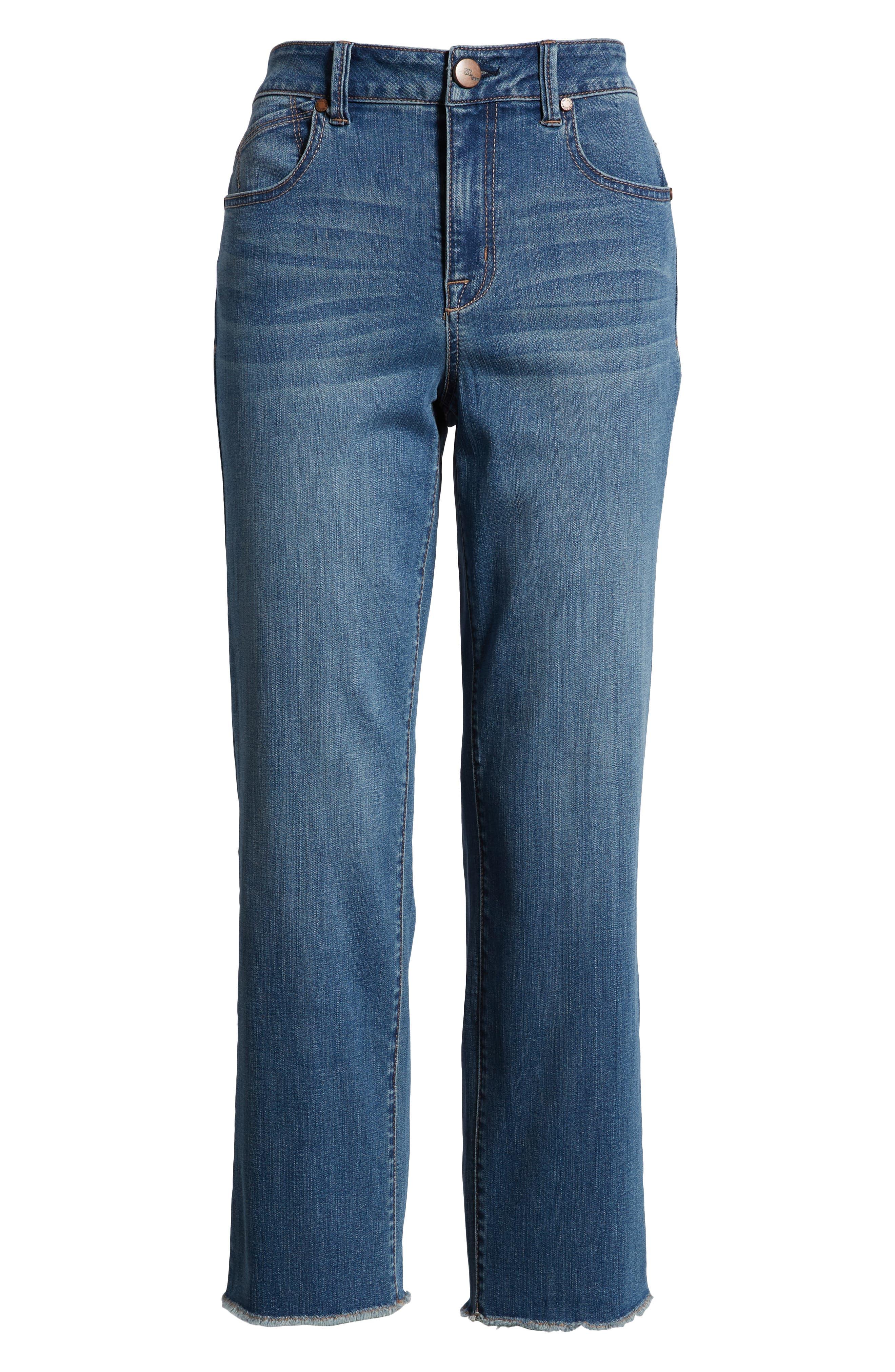Ankle Straight Leg Jeans,                             Alternate thumbnail 7, color,                             KORN LIGHT WASH