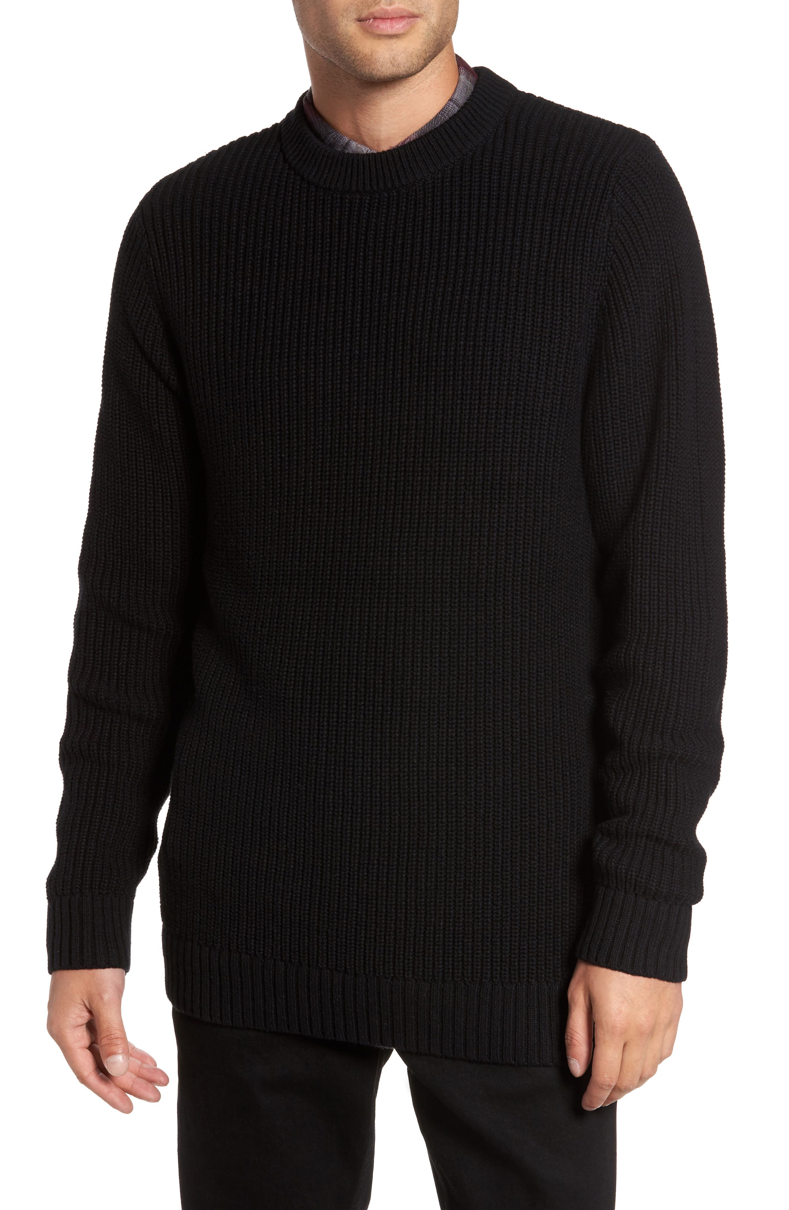 Shaker Stitch Sweater,                         Main,                         color, 001