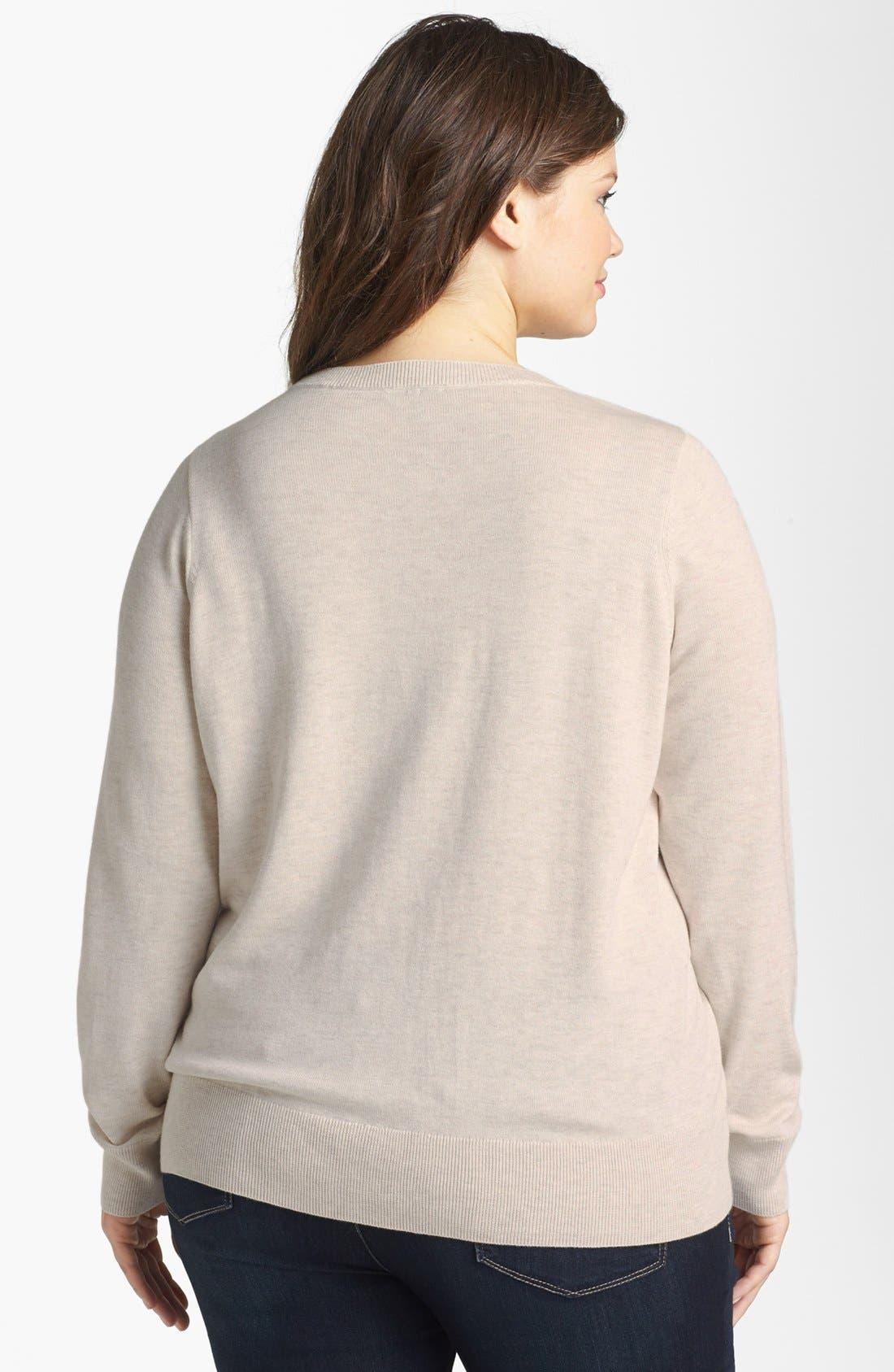 Intarsia Crewneck Sweater,                             Alternate thumbnail 11, color,