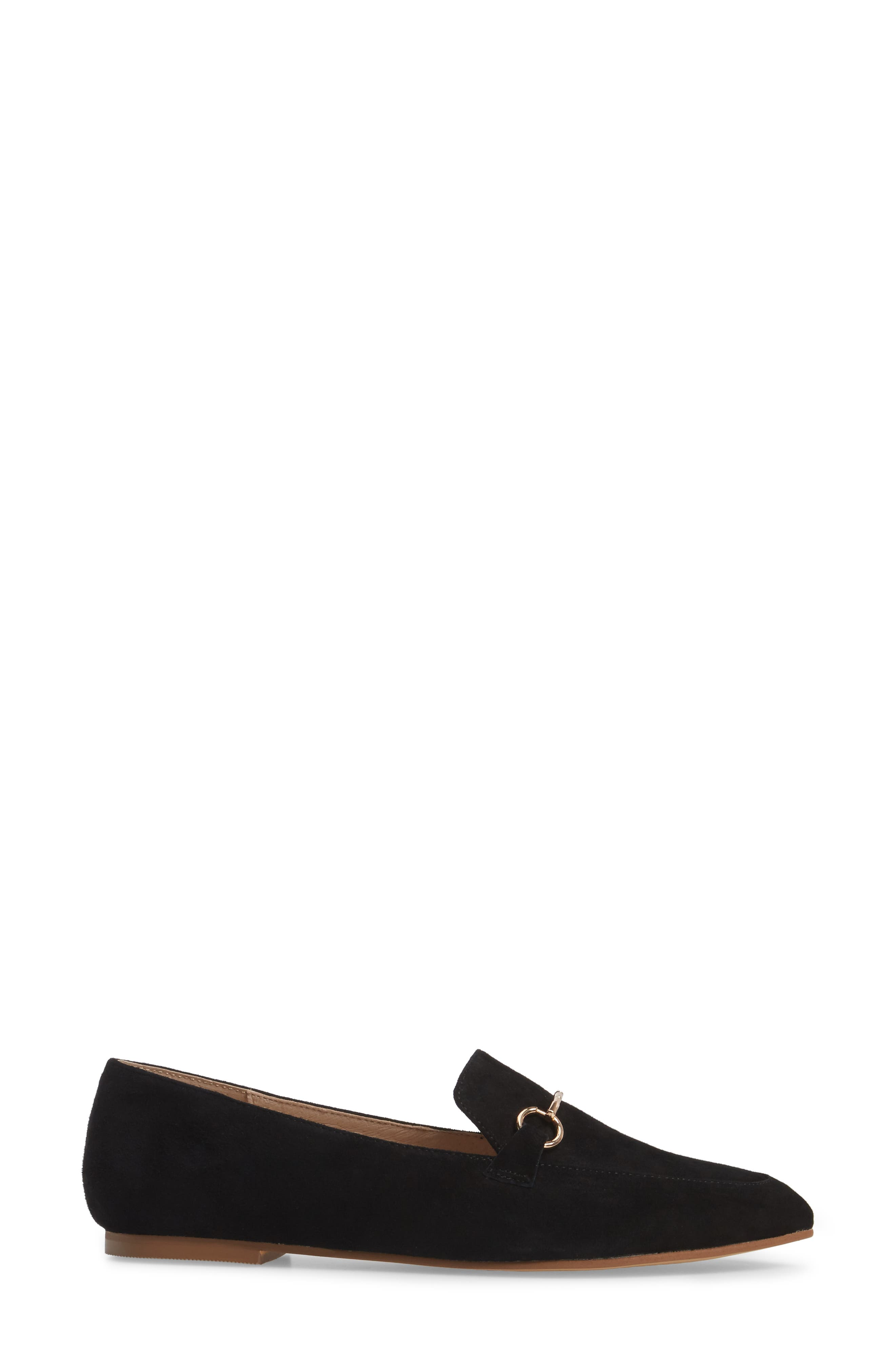 Cambrie Loafer Flat,                             Alternate thumbnail 3, color,                             001