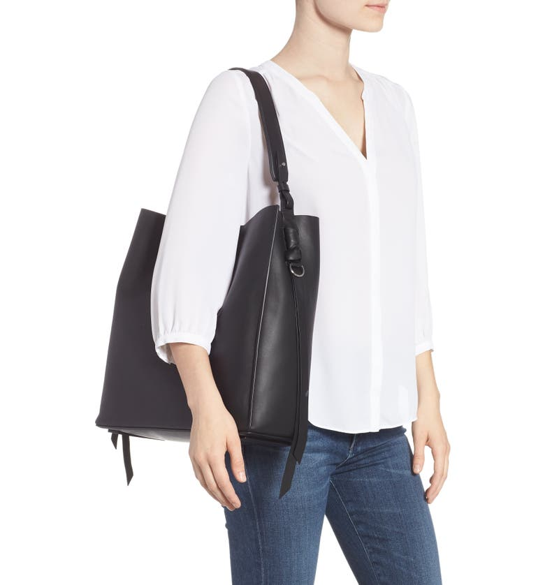 6970876fc7dc ALLSAINTS Voltaire North South Leather Tote