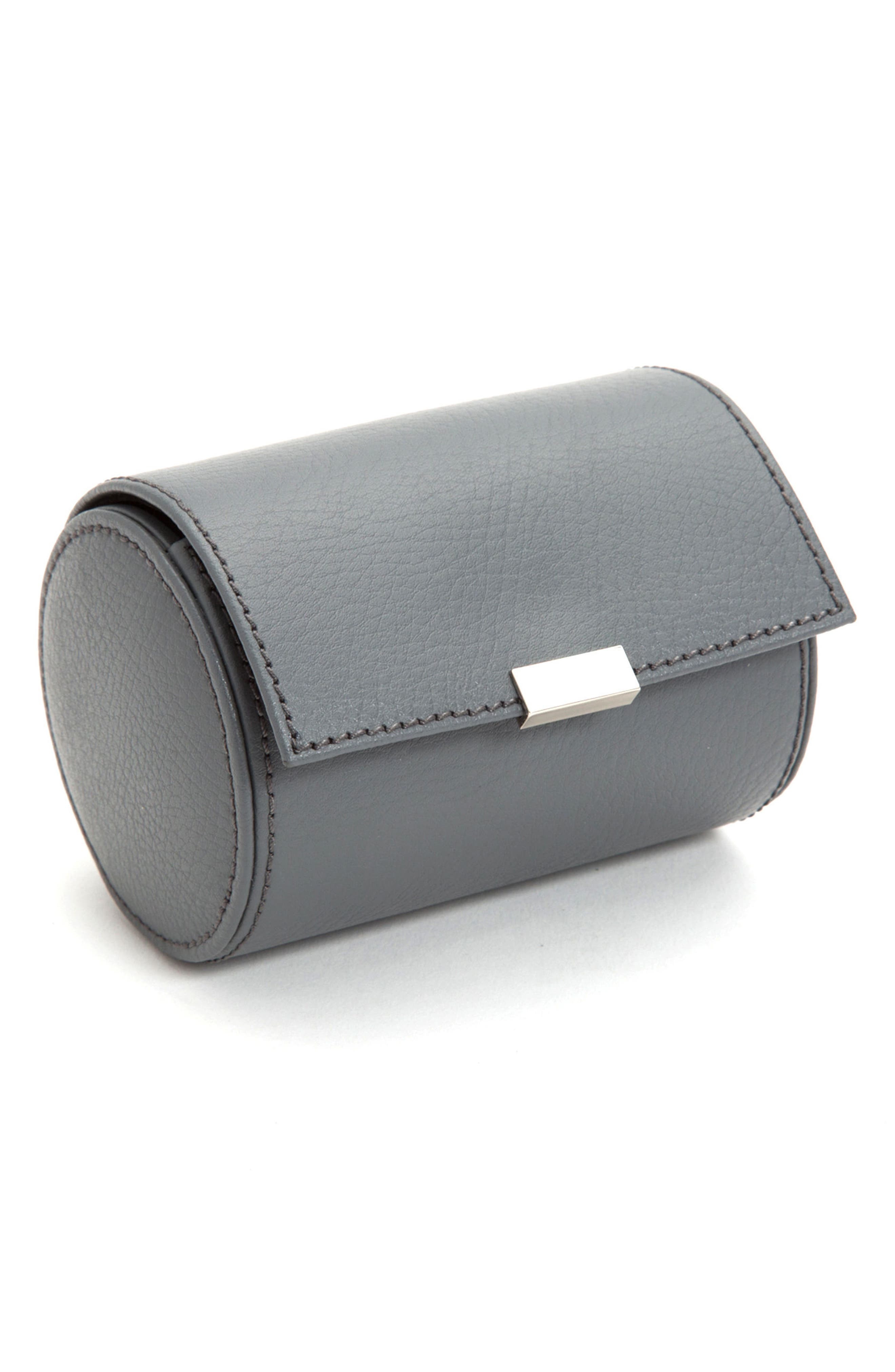 Howard Leather Watch Roll Case,                             Alternate thumbnail 2, color,                             GREY