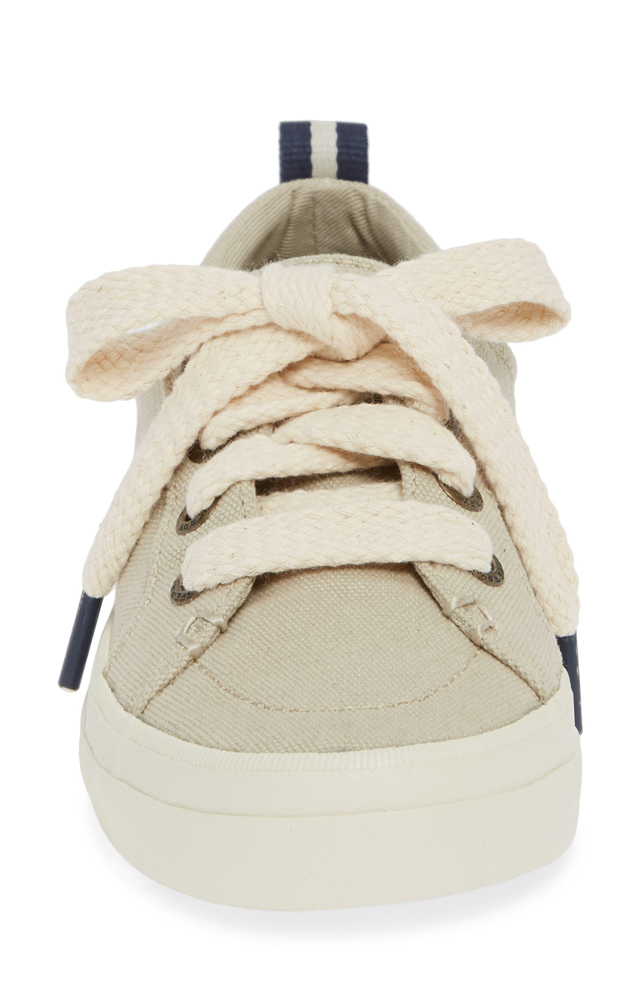 Crest Vibe Sneaker,                             Alternate thumbnail 4, color,                             IVORY CANVAS