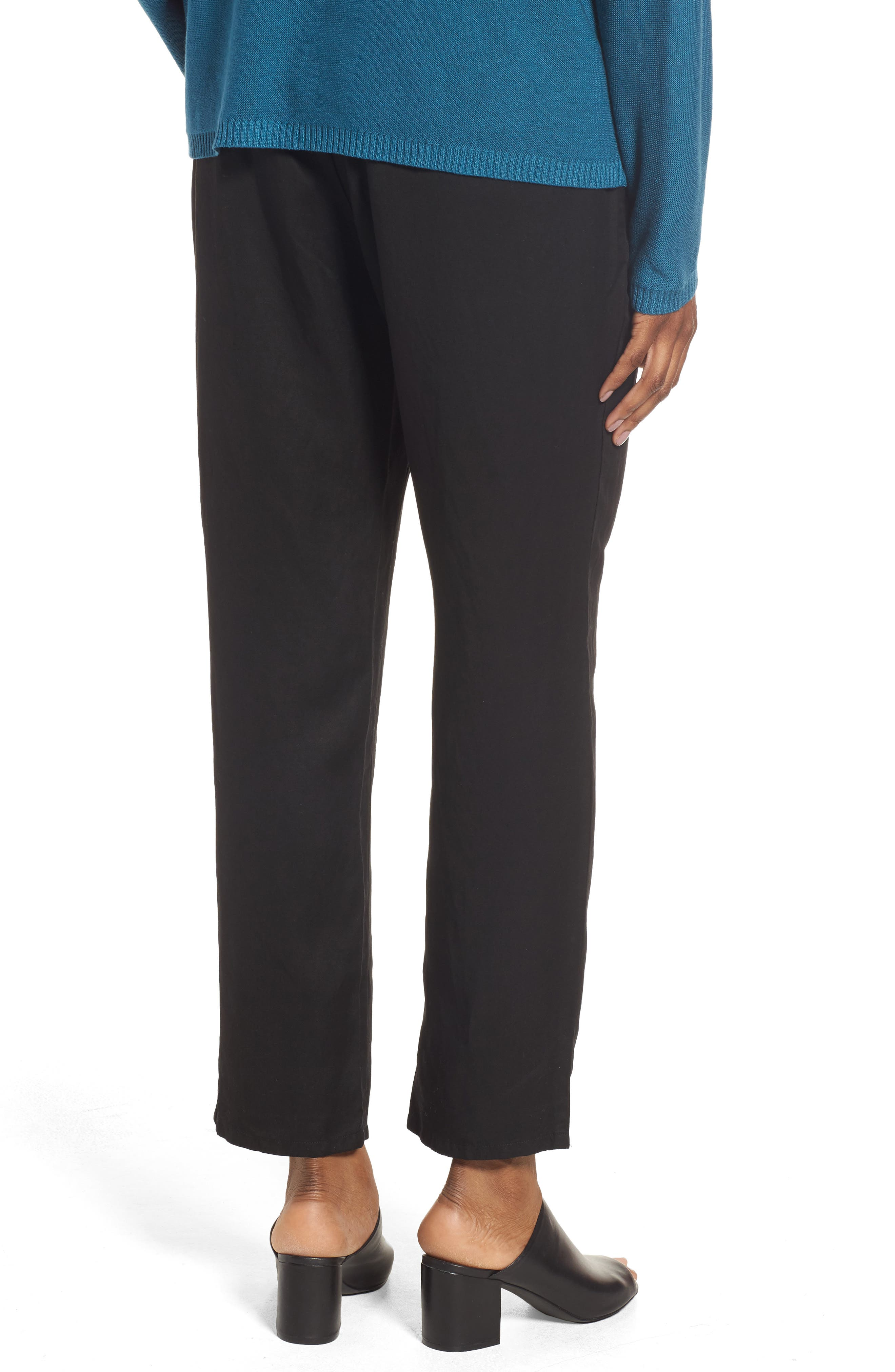 Tencel<sup>®</sup> & Linen Ankle Pants,                             Alternate thumbnail 3, color,