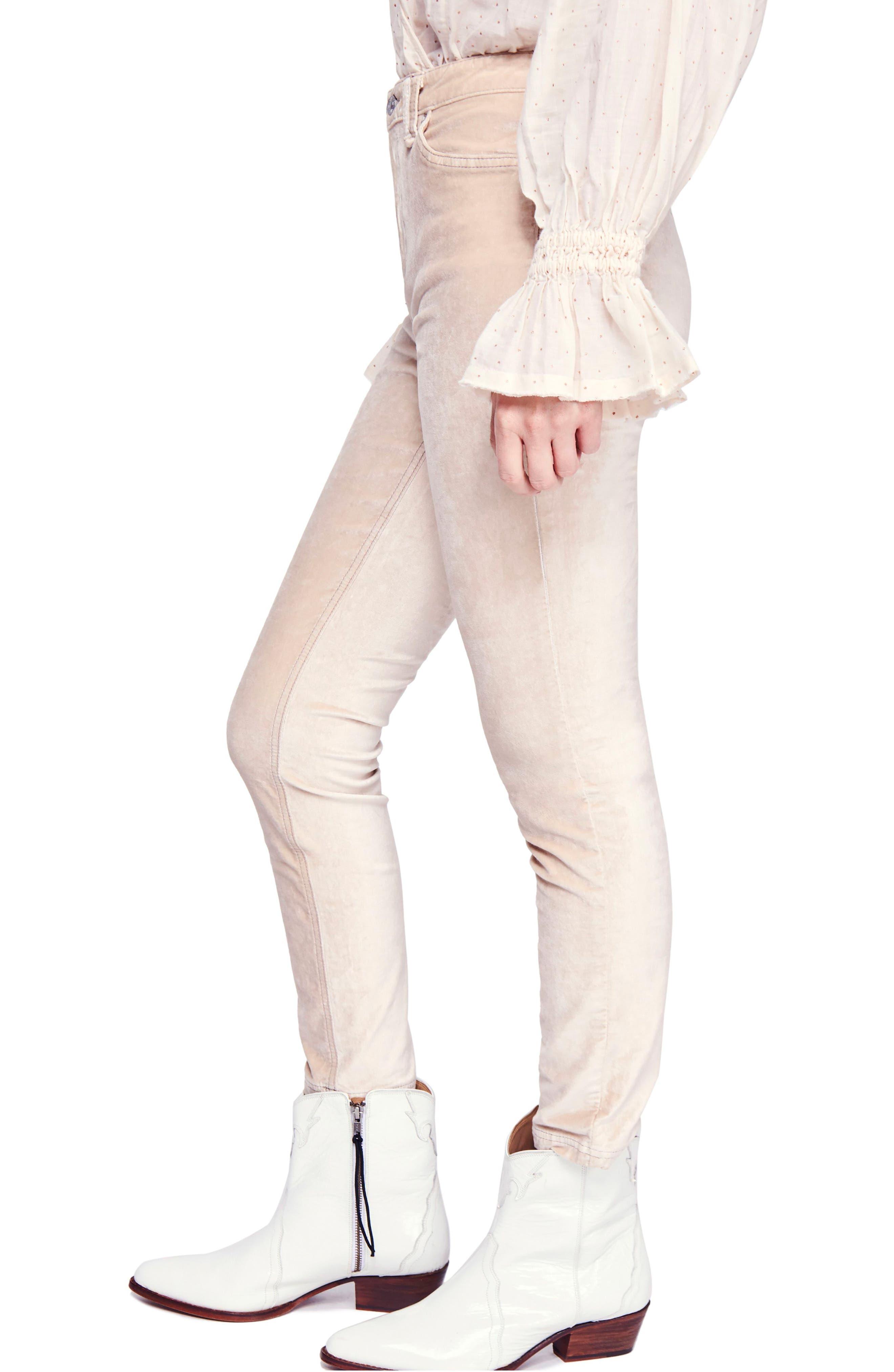 Sweet Jane Velvet Skinny Jeans,                             Alternate thumbnail 3, color,                             903