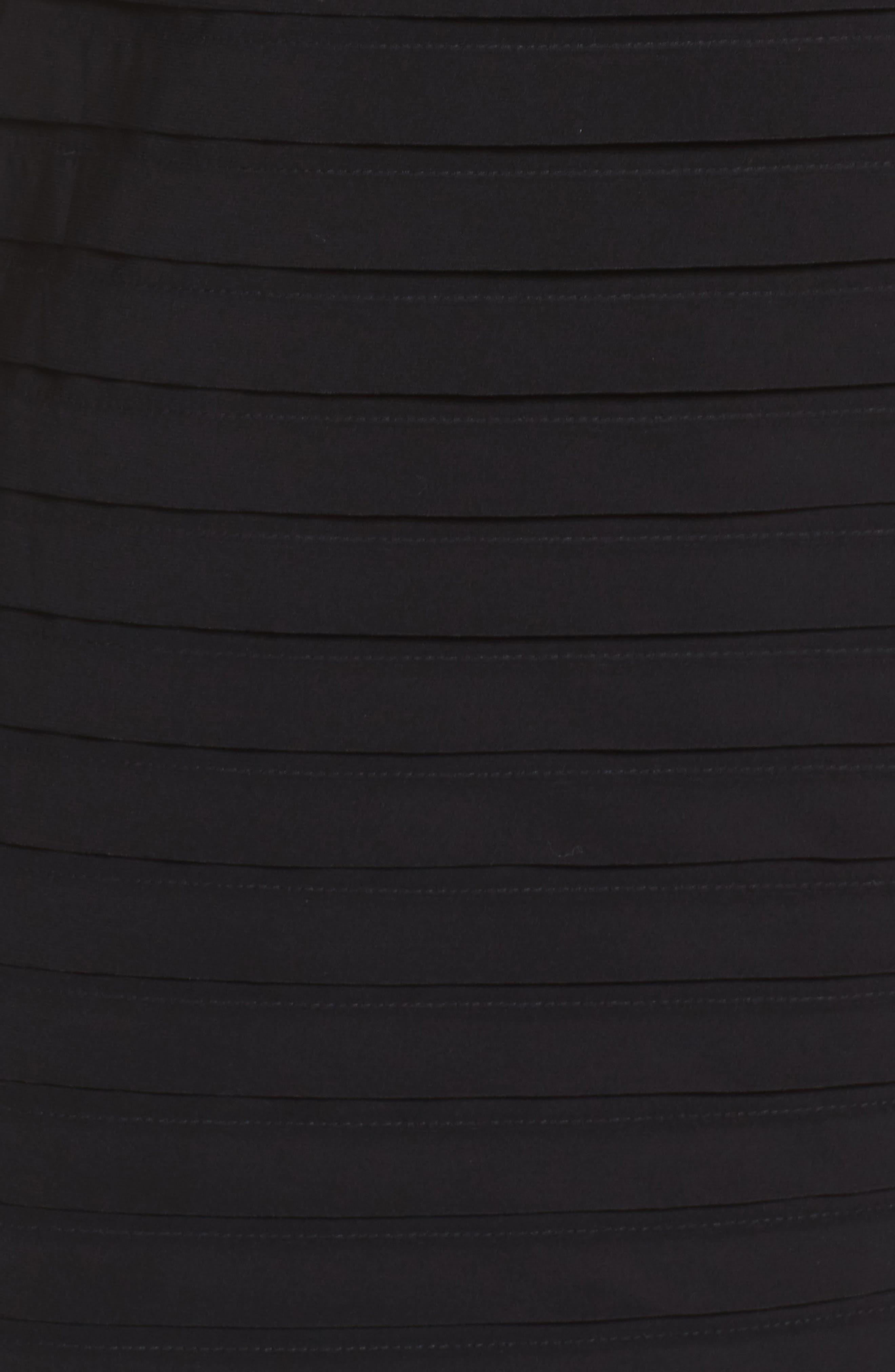 Shutter Pleated Sheath Dress,                             Alternate thumbnail 5, color,                             010