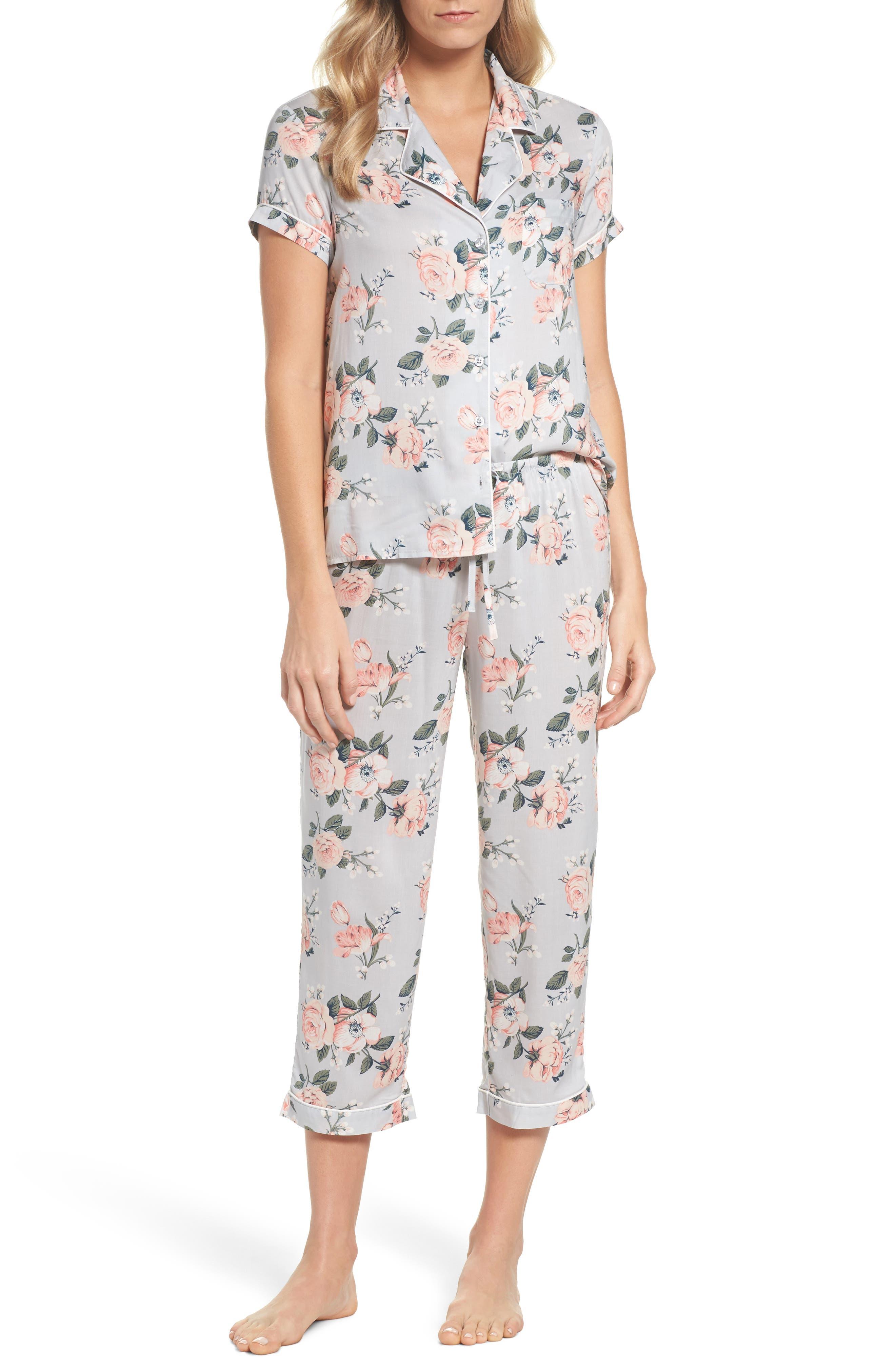 'Sweet Dreams' Print Pajamas,                             Main thumbnail 1, color,                             030
