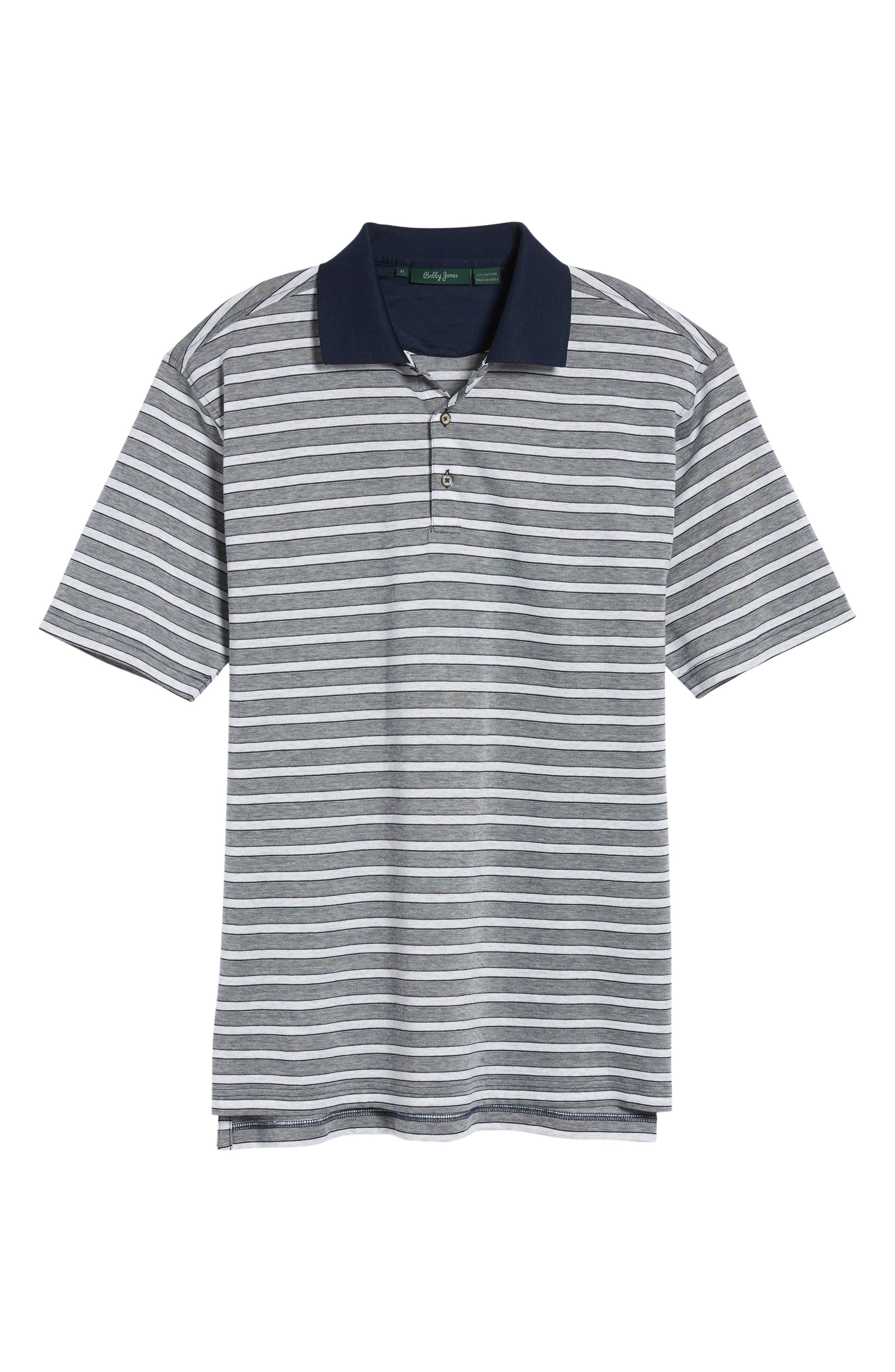 Breene Jacquard Stripe Polo,                             Alternate thumbnail 6, color,                             400