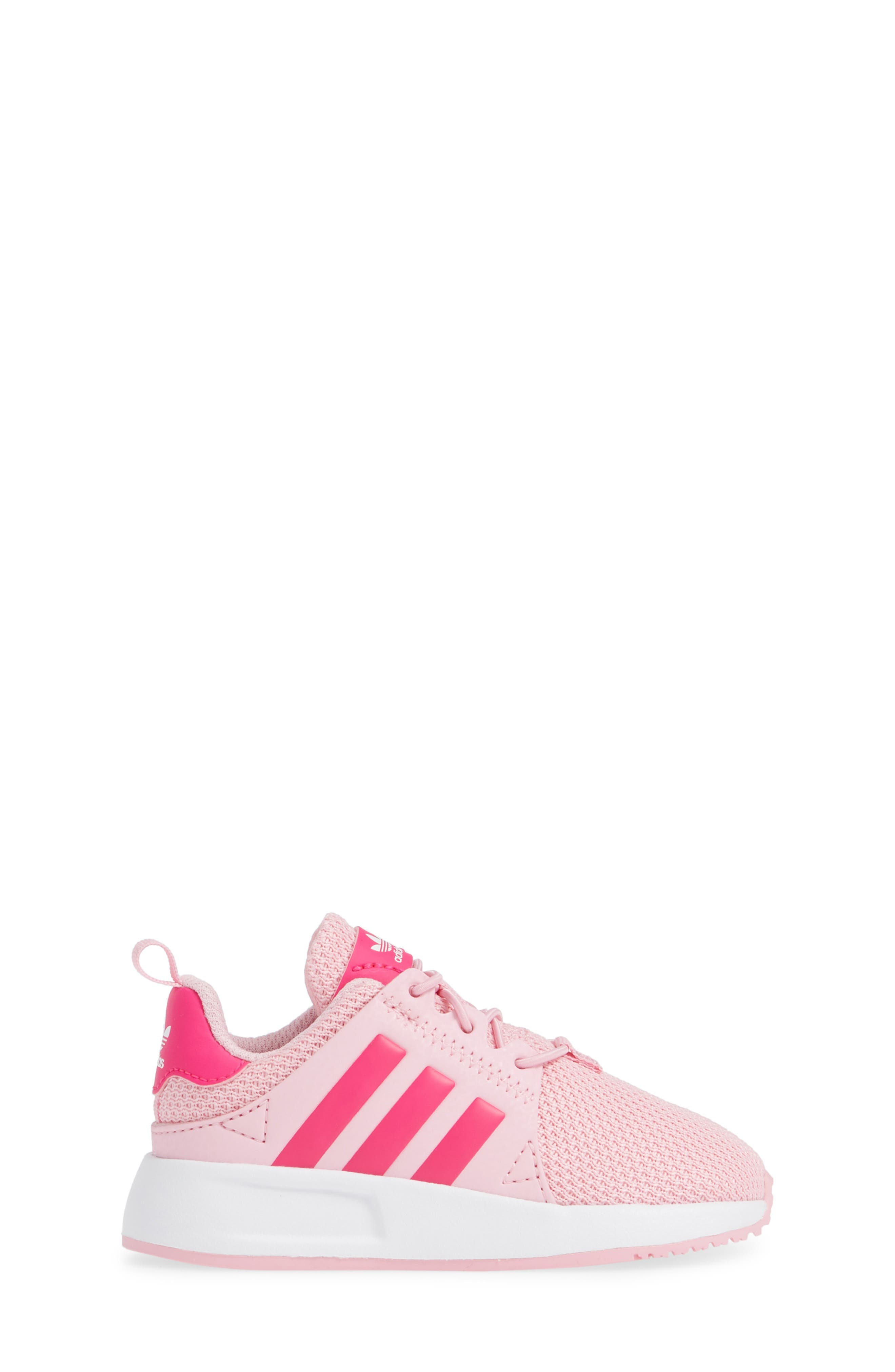ADIDAS,                             X_PLR Sneaker,                             Alternate thumbnail 3, color,                             TRUE PINK/ SHOCK PINK/ WHITE