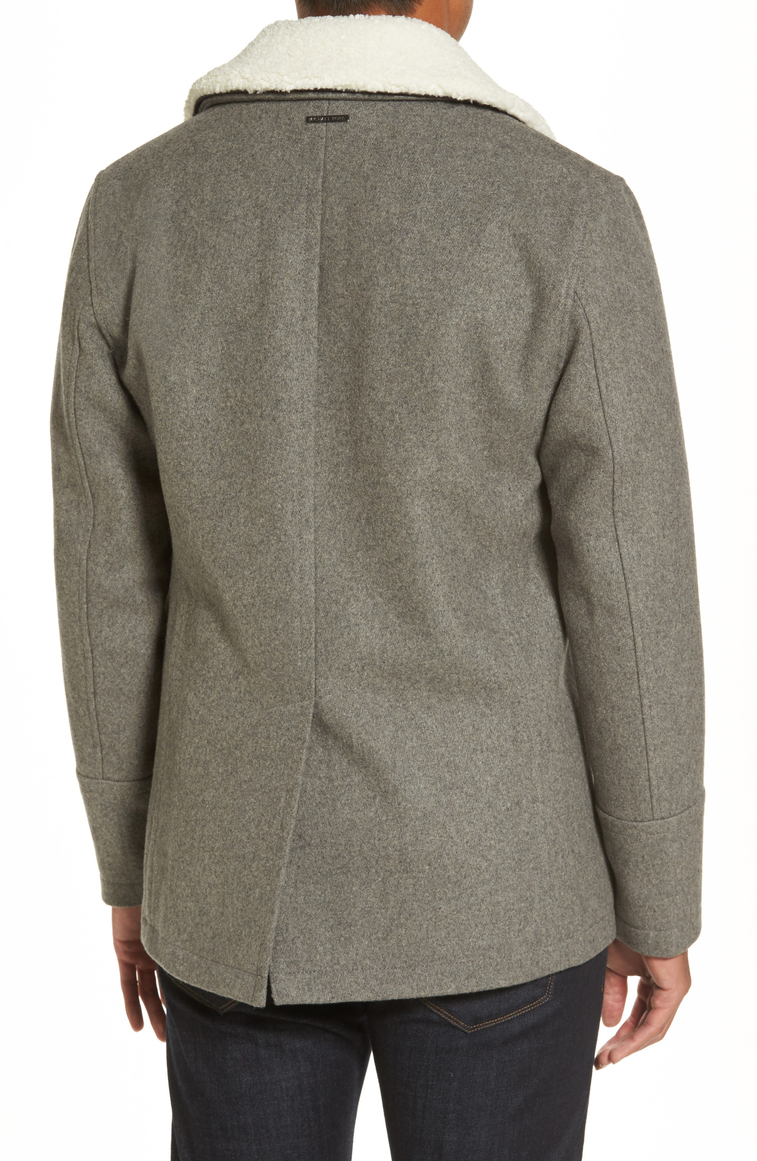 Peacoat with Faux Shearling Collar,                             Alternate thumbnail 2, color,                             038