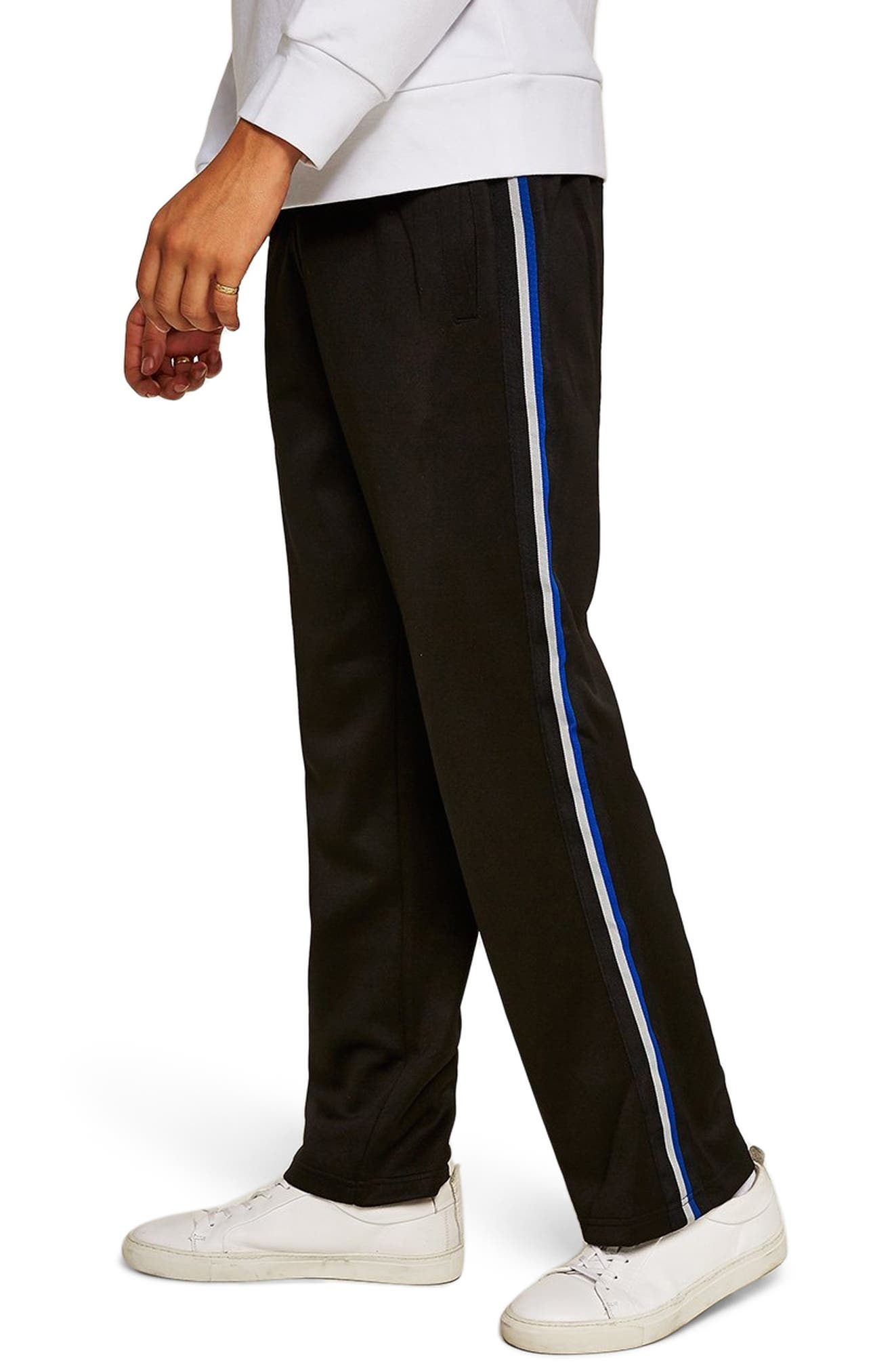 Classic Tricot Taped Jogger Pants,                             Main thumbnail 1, color,                             BLACK MULTI