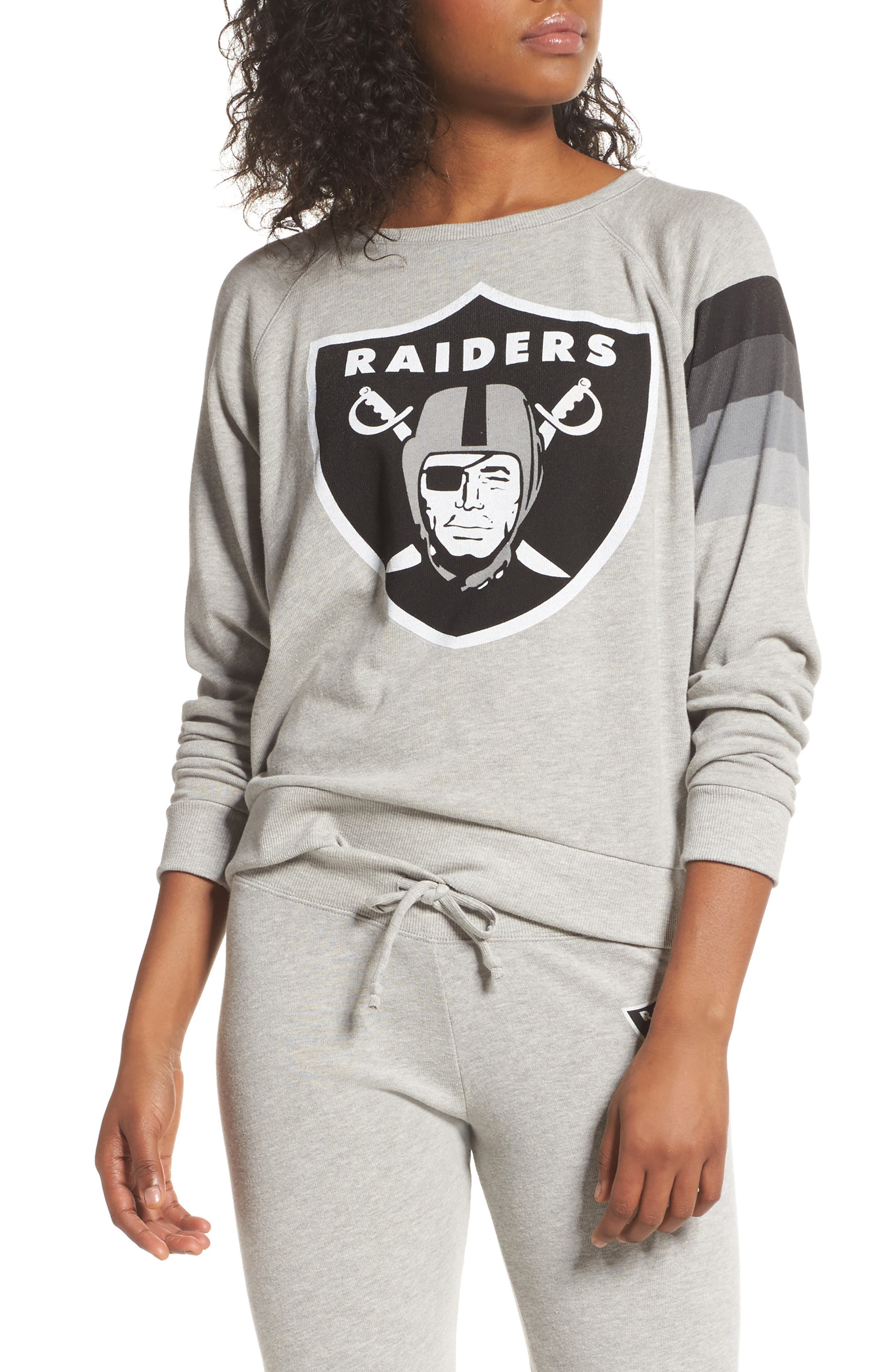 NFL Oakland Raiders Hacci Sweatshirt,                             Main thumbnail 1, color,