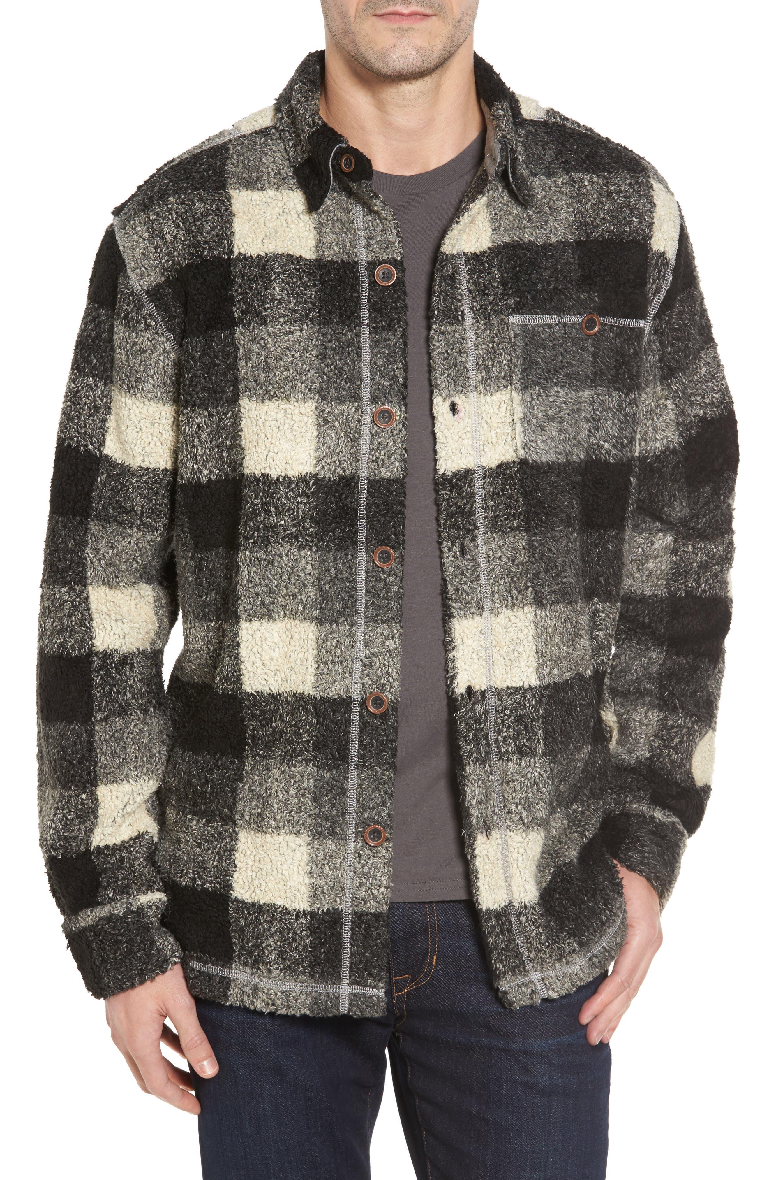 Textured Buffalo Check Shirt Jacket,                         Main,                         color, 020