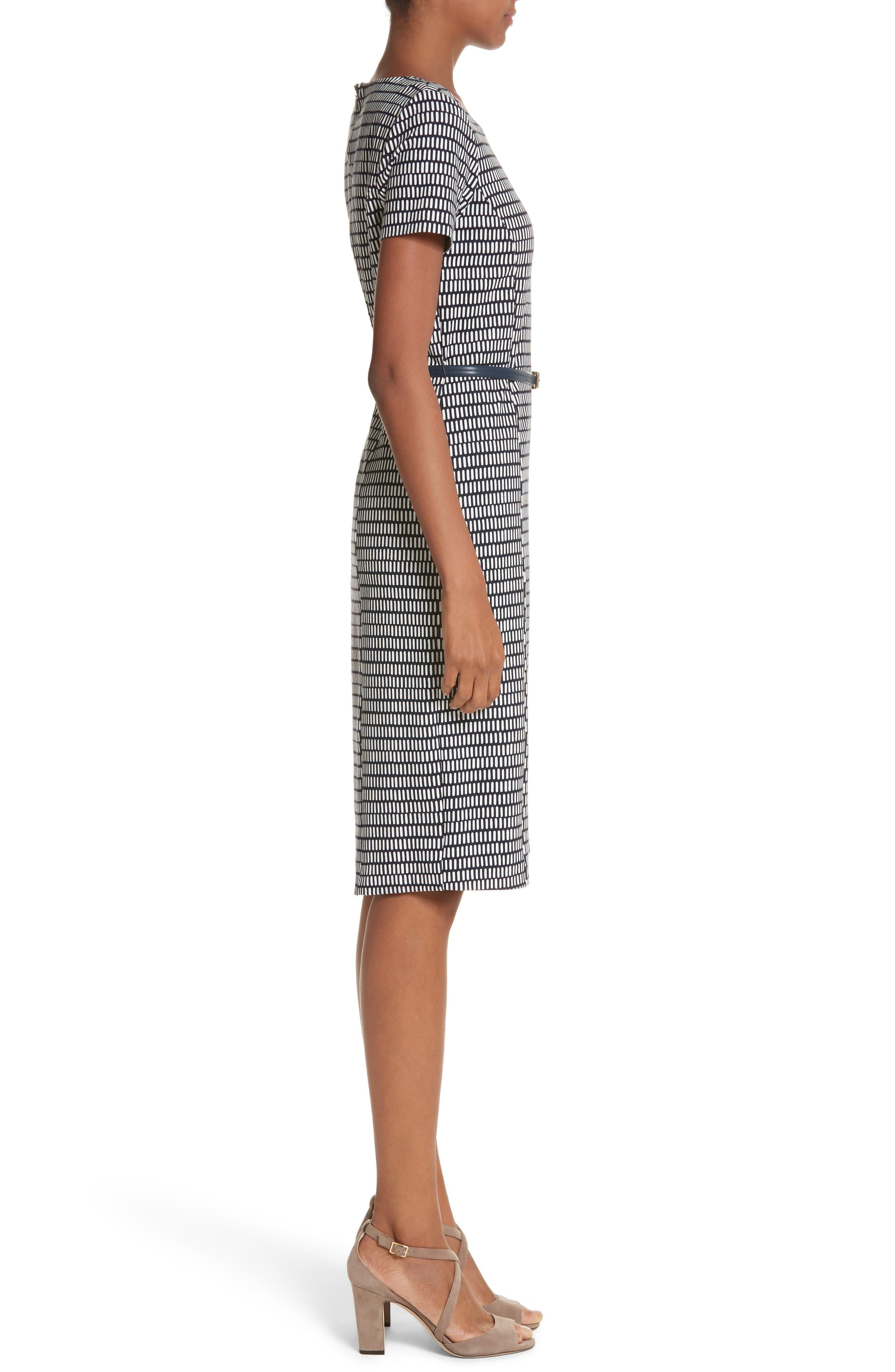 Felino Print Sheath Dress,                             Alternate thumbnail 3, color,                             404